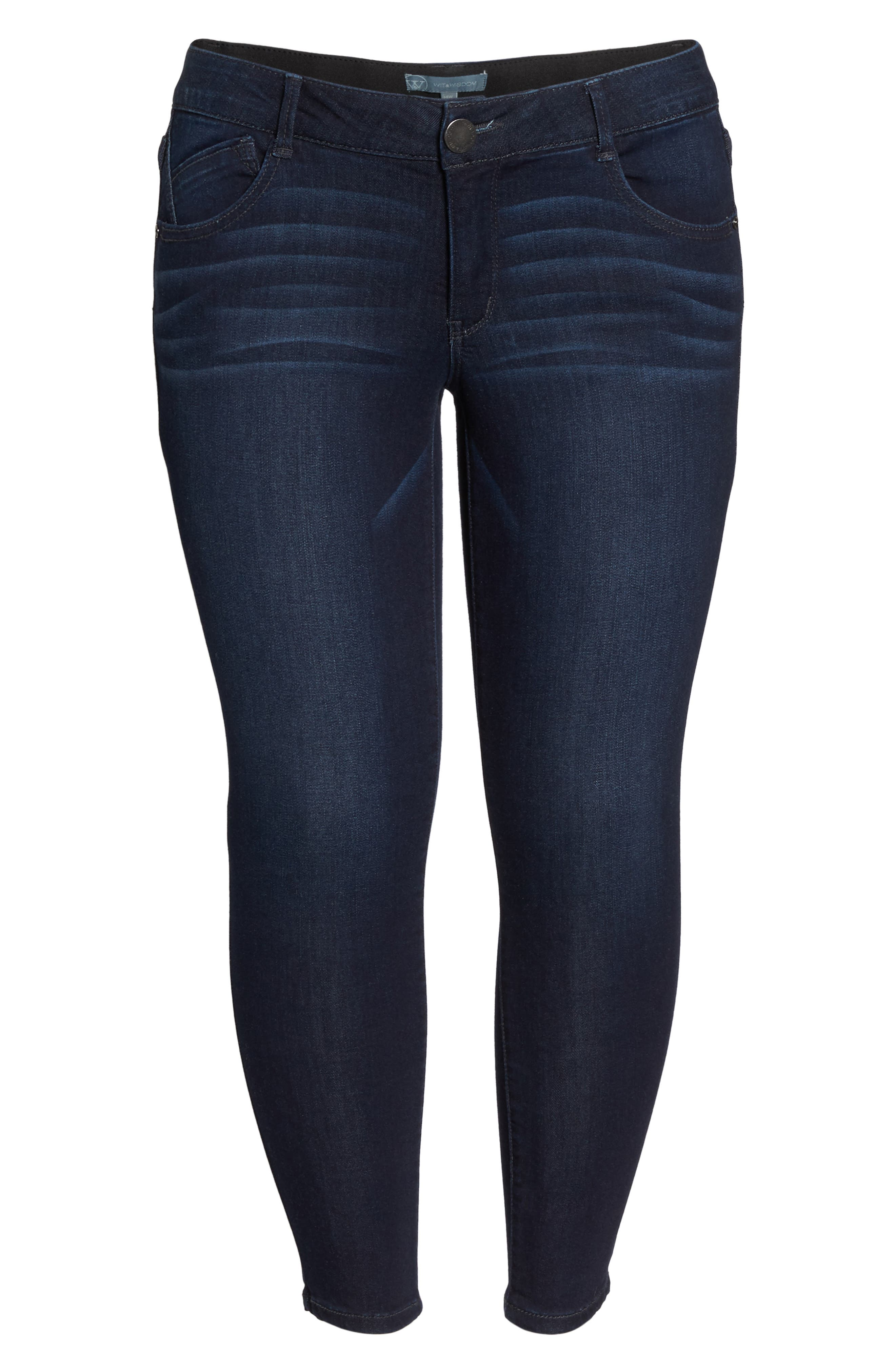 Ab-solution Luxe Touch Ankle Skinny Jeans,                             Alternate thumbnail 7, color,                             In-Indigo