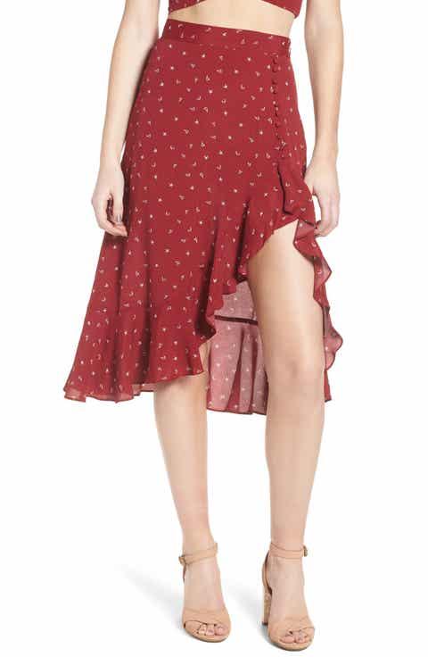 For Love & Lemons La Lana Midi Skirt