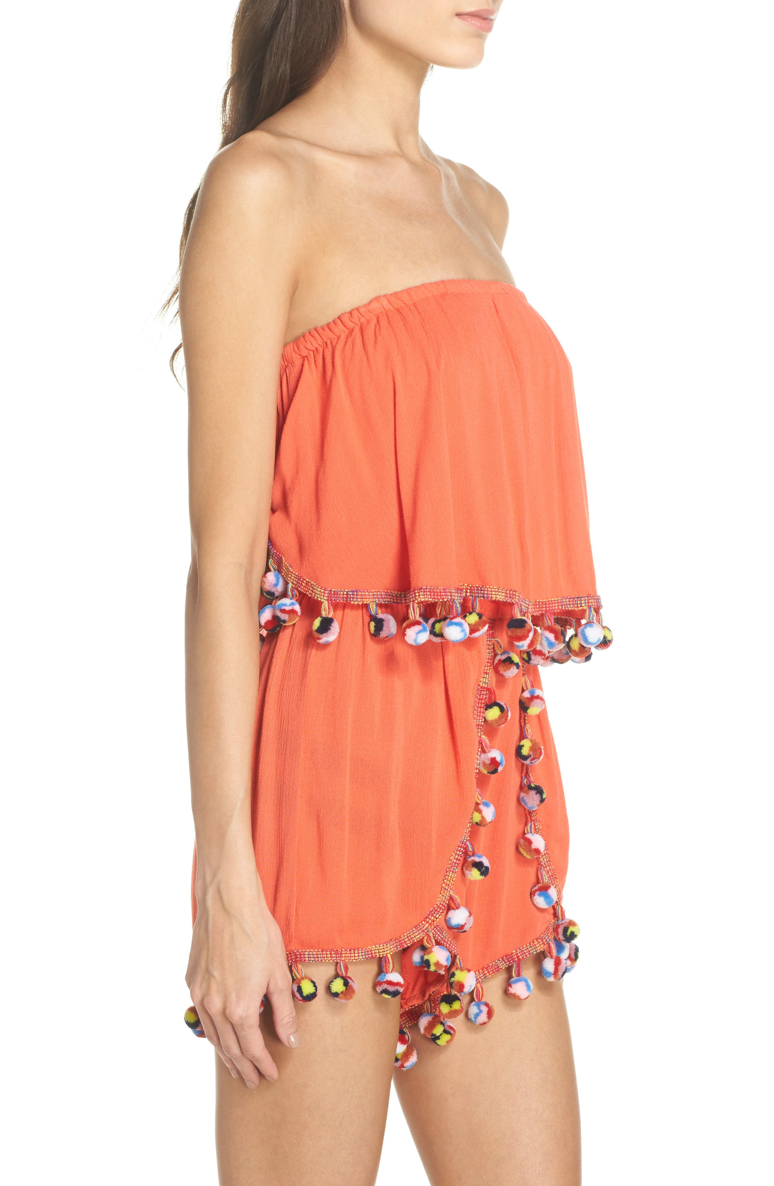 Alternate Image 3  - Surf Gypsy Red Fruit Punch Cover-Up Romper