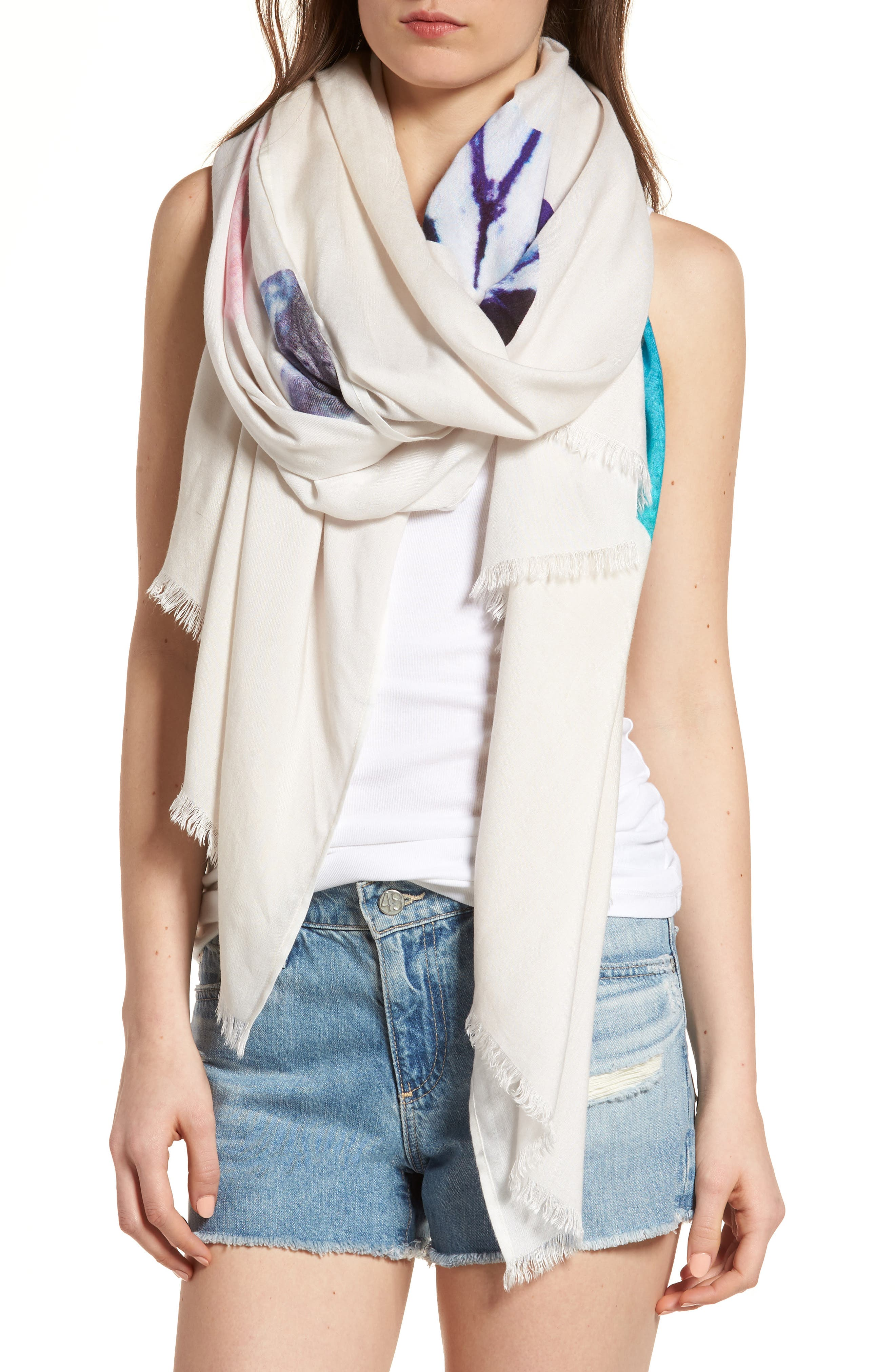 Wrap Yourself in Positive Vibes - Love Scarf,                             Alternate thumbnail 4, color,                             Grey