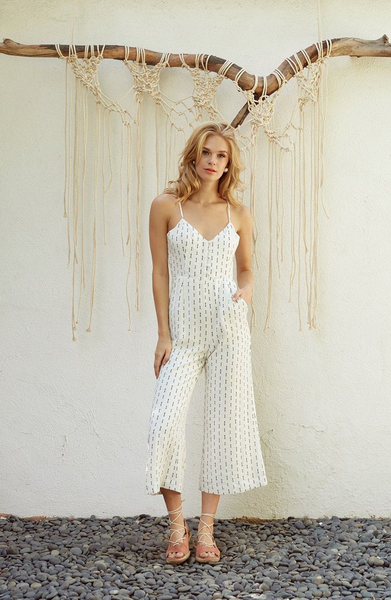 Hollywood Jumpsuit,                             Alternate thumbnail 2, color,                             White