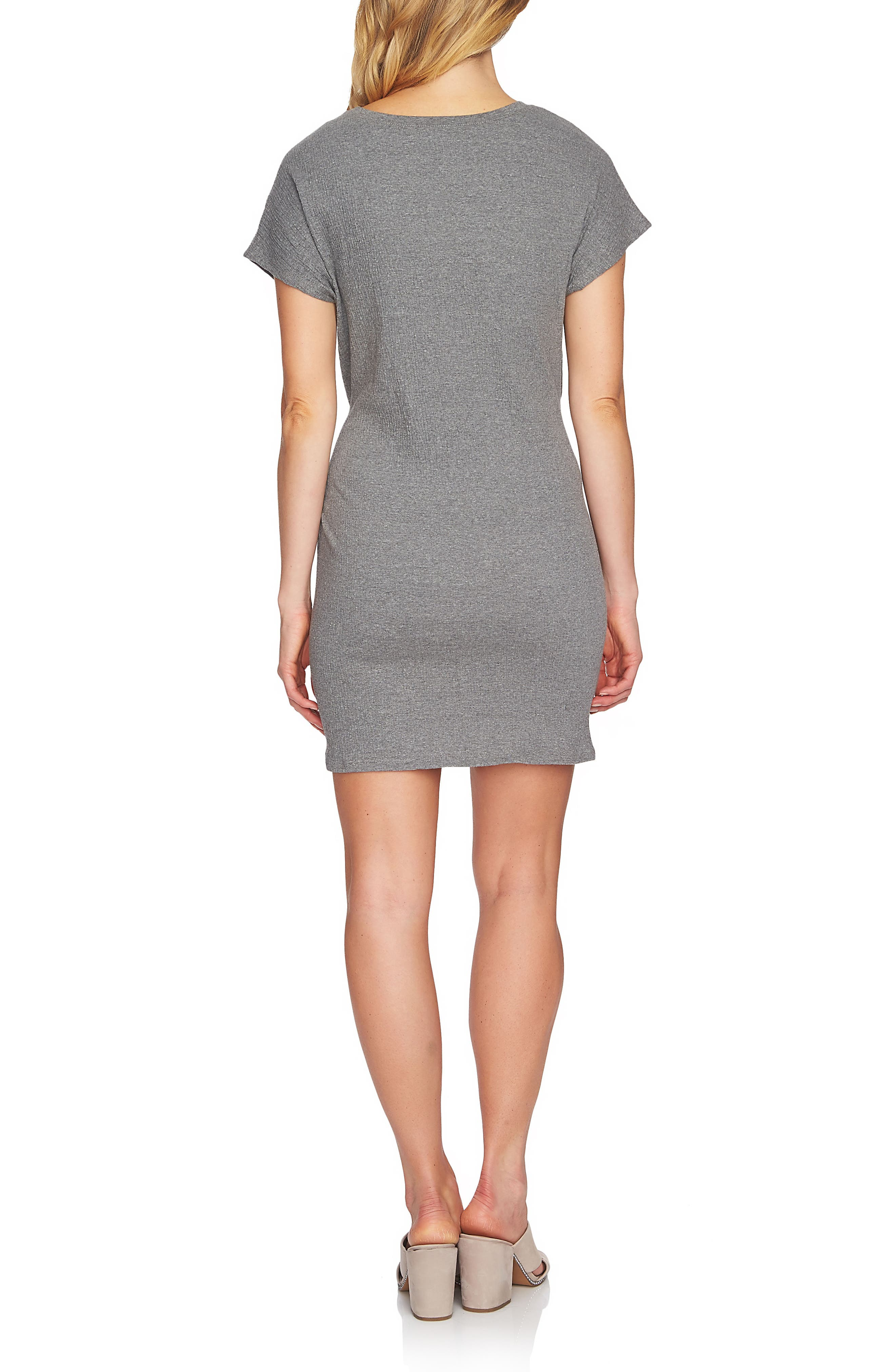 Twist Body-Con Dress,                             Alternate thumbnail 2, color,                             078 Light Heather Grey