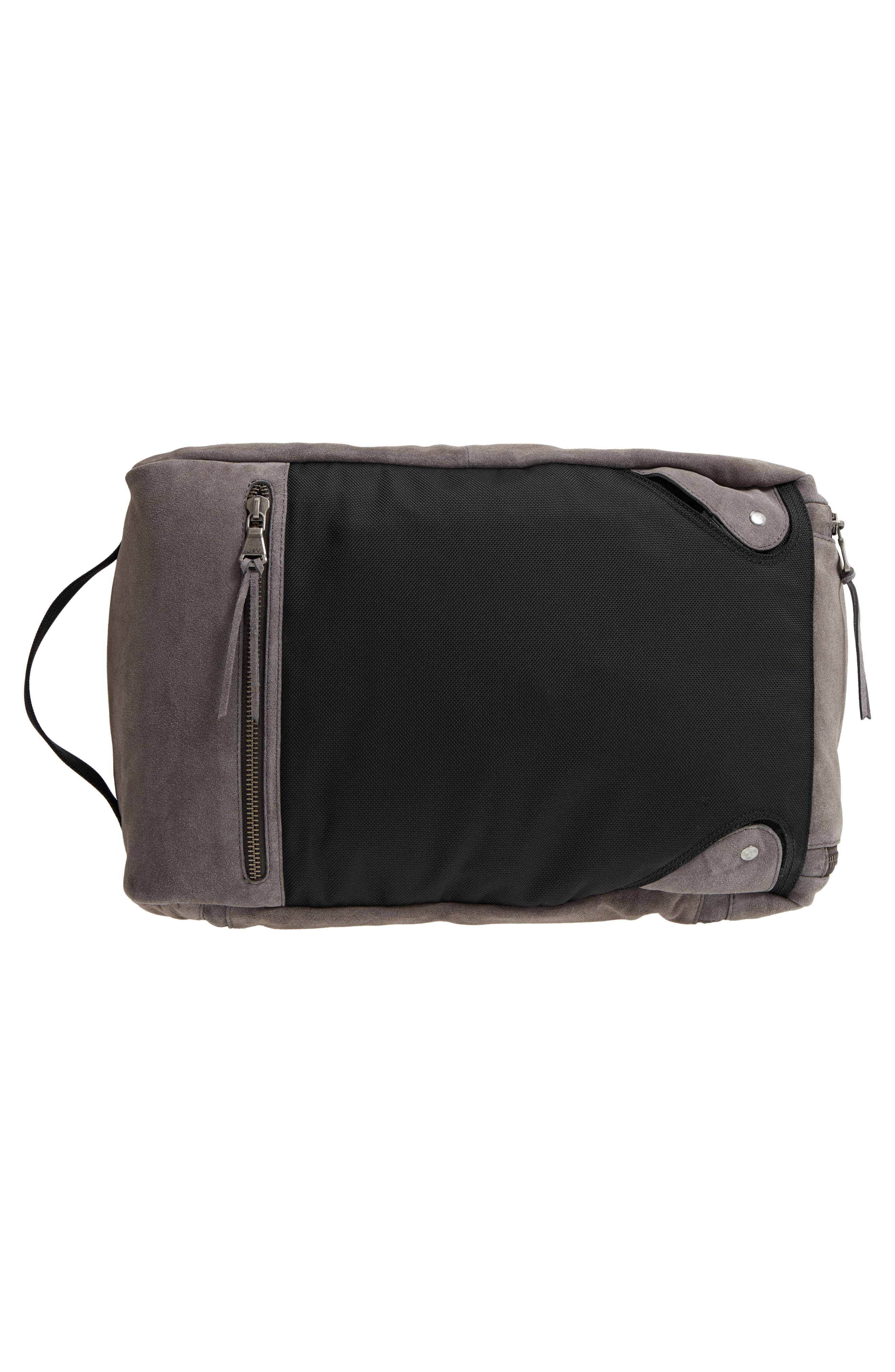 Brooklyn Suede Convertible Duffel Bag,                             Alternate thumbnail 7, color,                             Lead