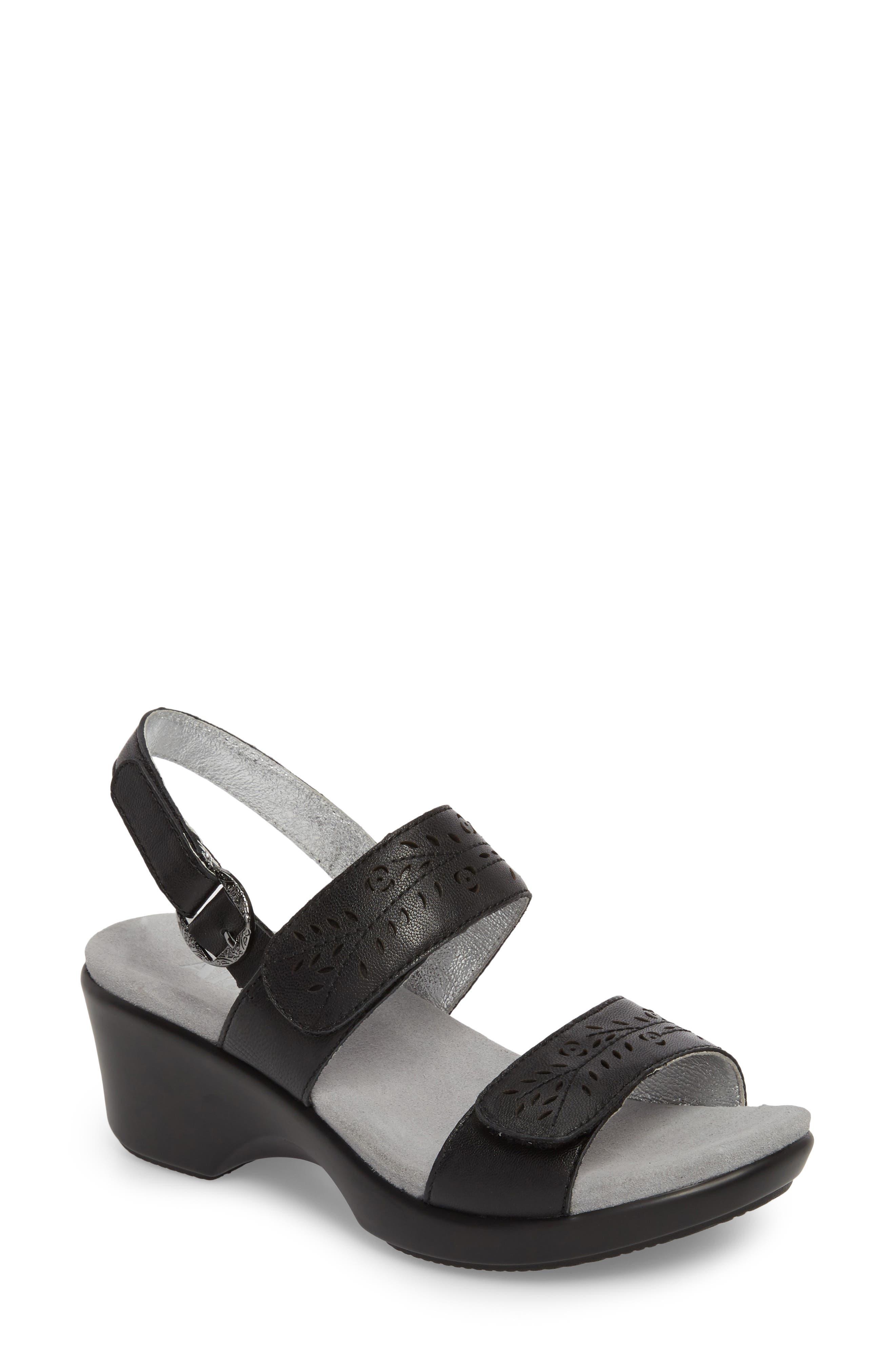 by PG Lite Romi Sandal,                         Main,                         color, Black Burnish Leather