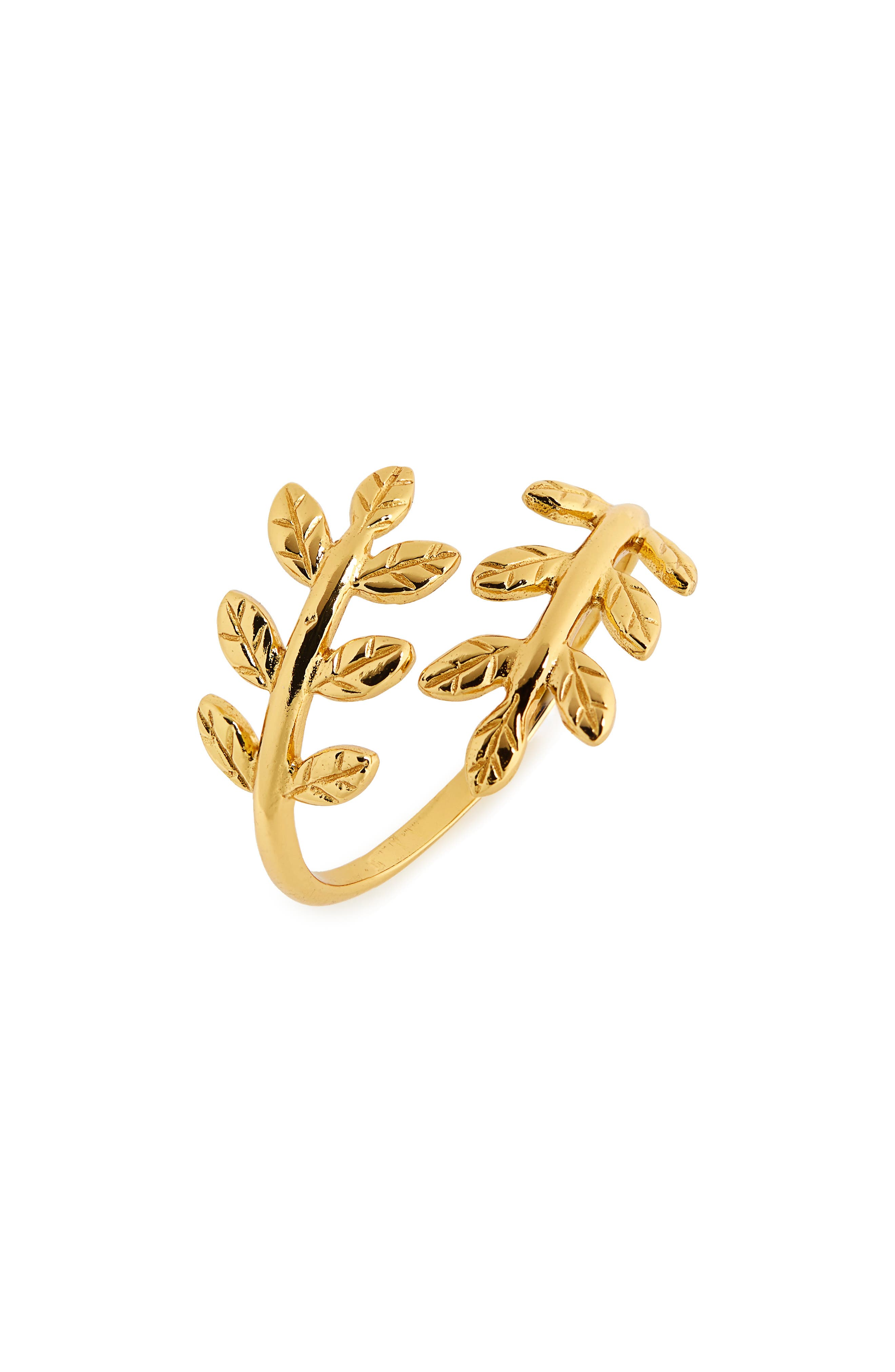 Foliage Open Ring,                             Main thumbnail 1, color,                             Gold