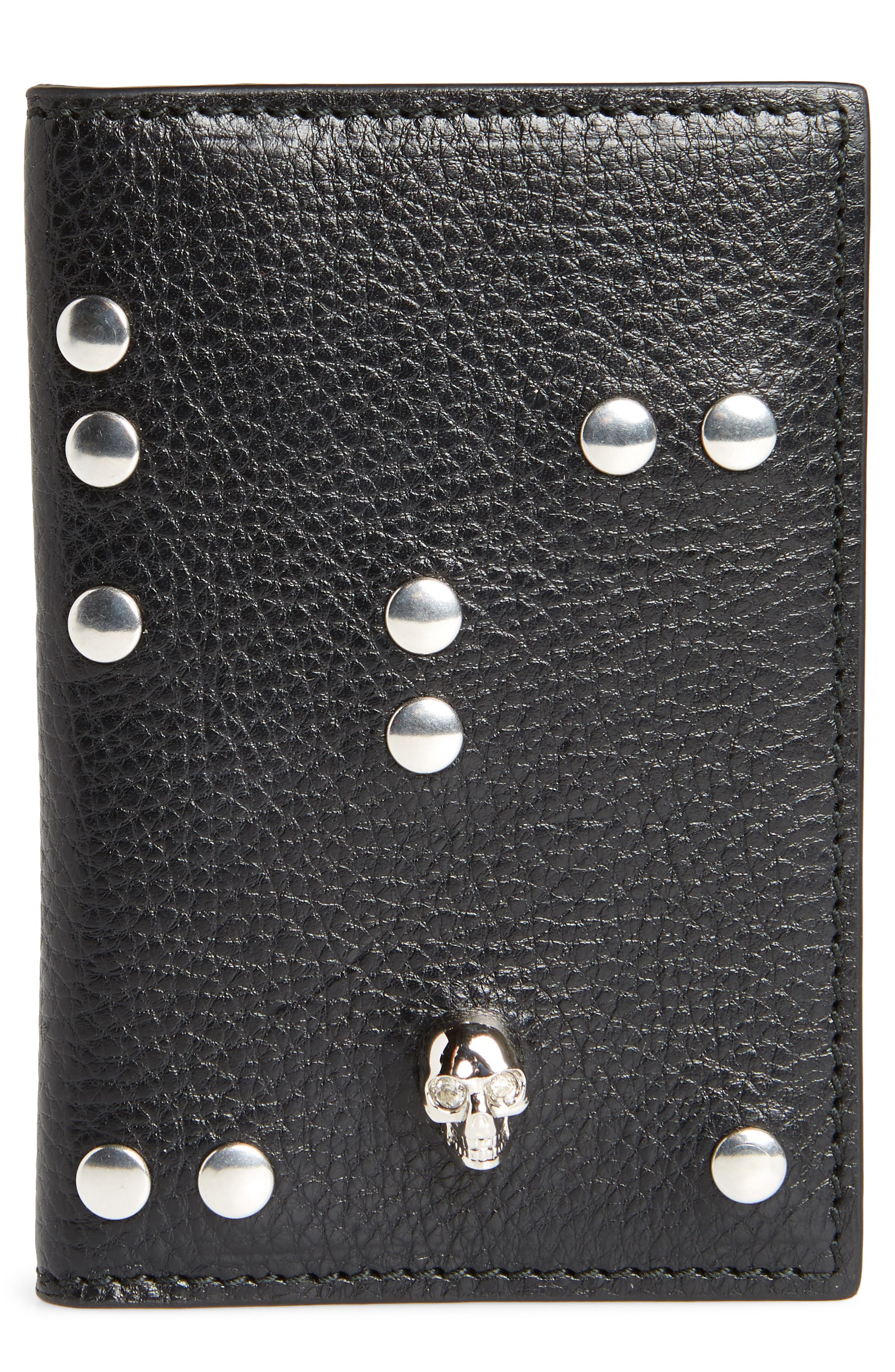 Main Image - Alexander McQueen Studded Leather Card Holder