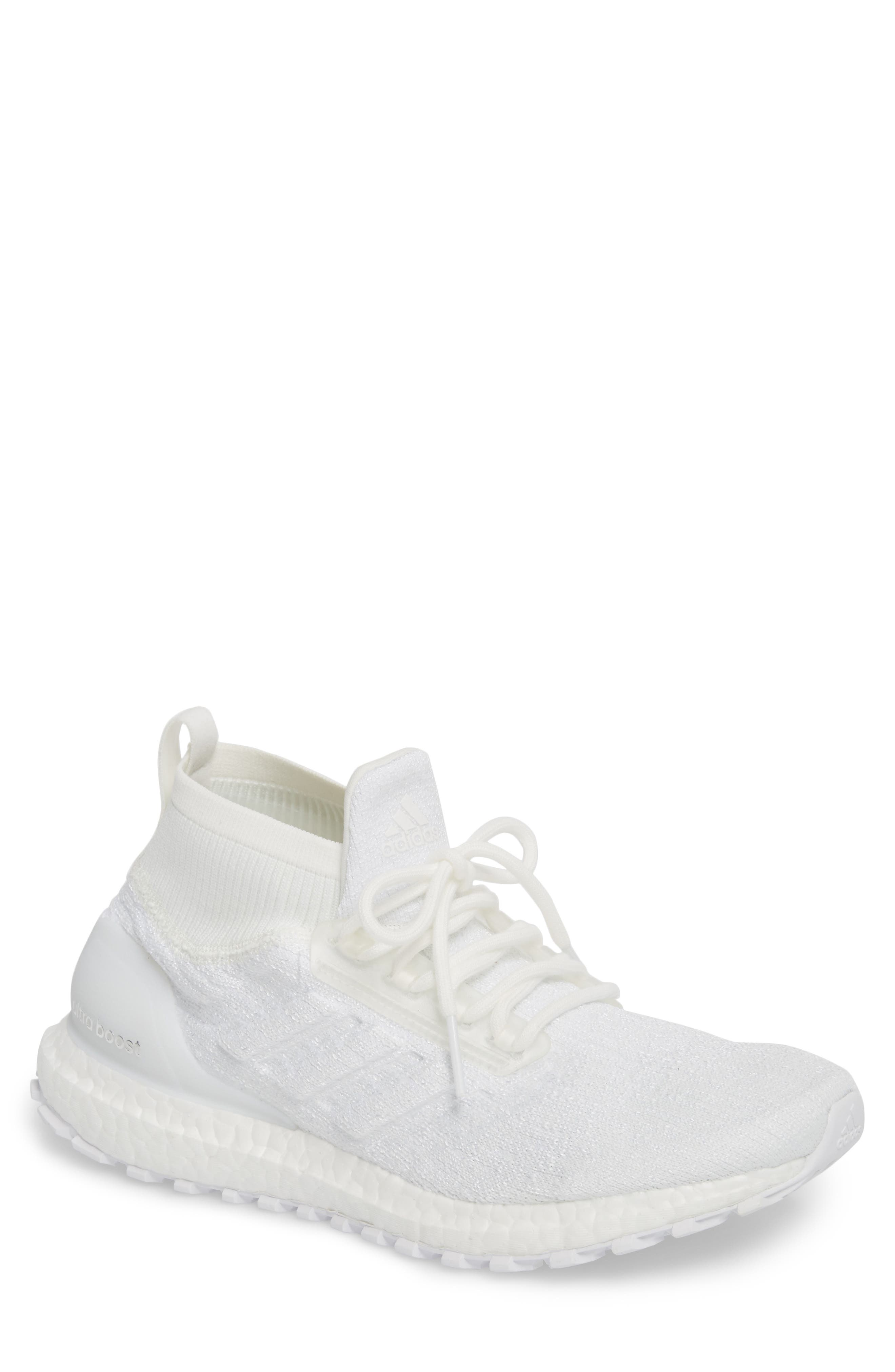 UltraBoost All Terrain Water Resistant Running Shoe,                             Main thumbnail 1, color,                             Non-Dyed White
