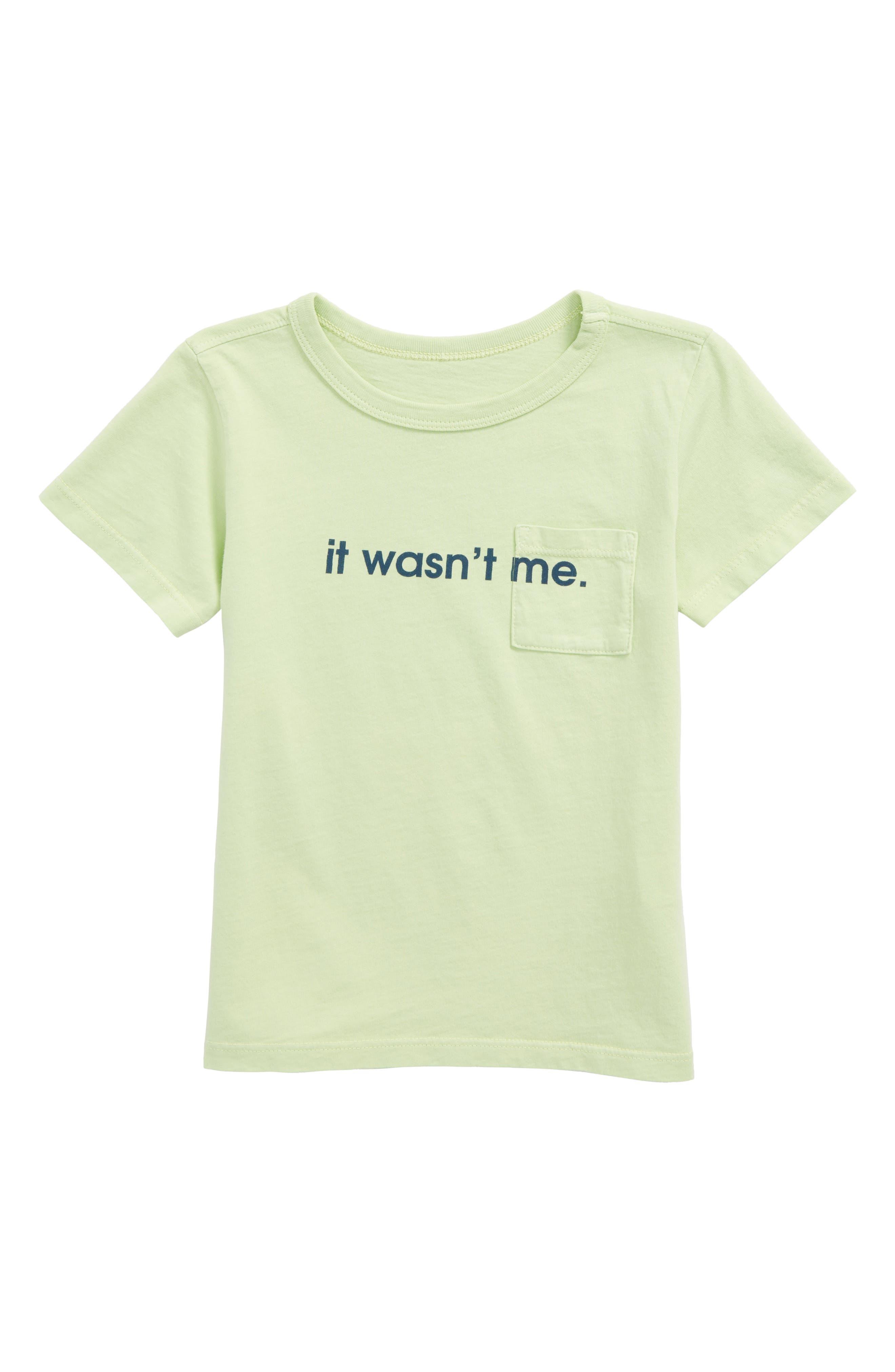 It Wasn't Me Huxley Graphic T-Shirt,                             Main thumbnail 1, color,                             Succulent