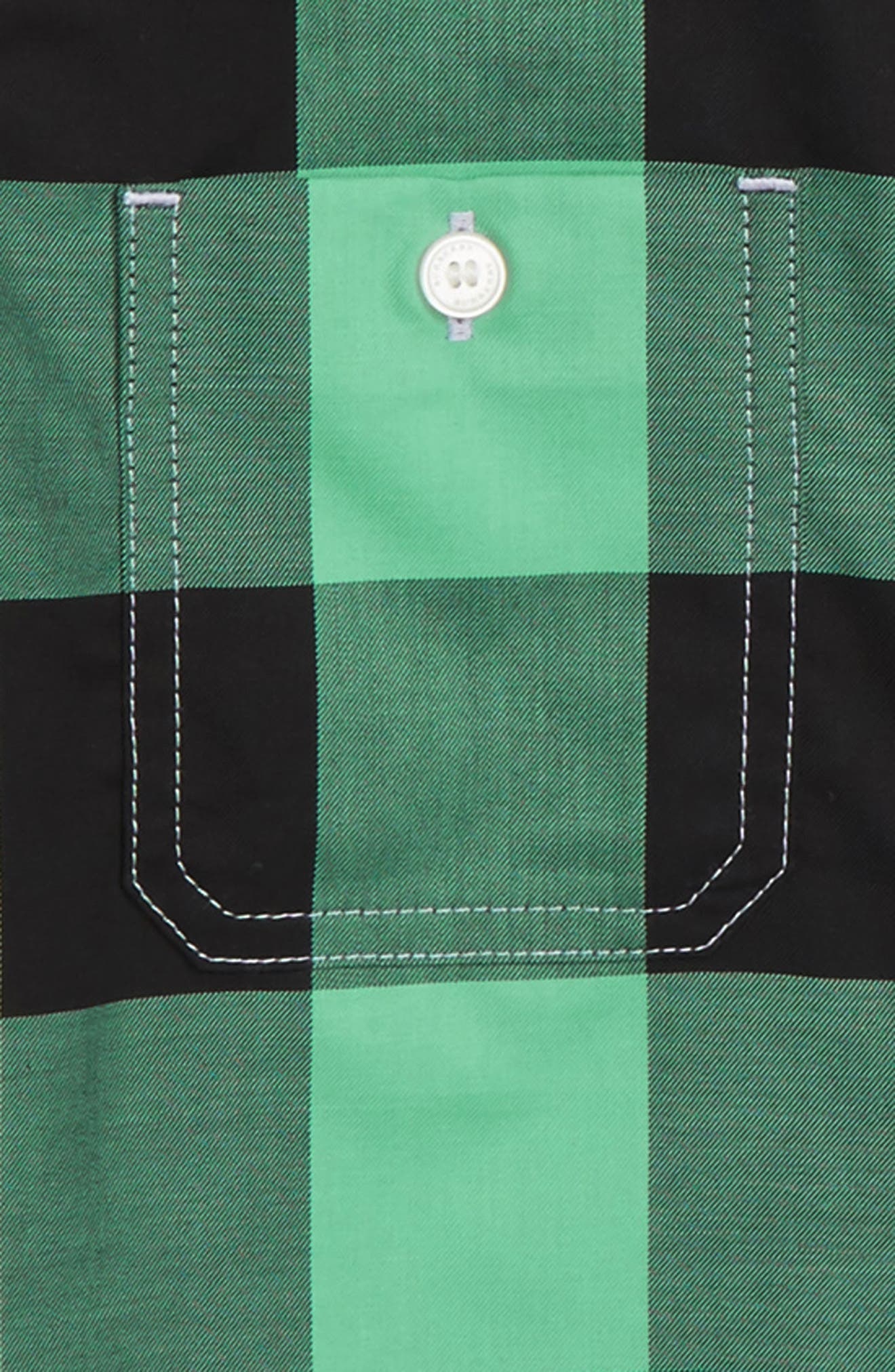 Mini Camber Check Shirt,                             Alternate thumbnail 2, color,                             Pale Lilac