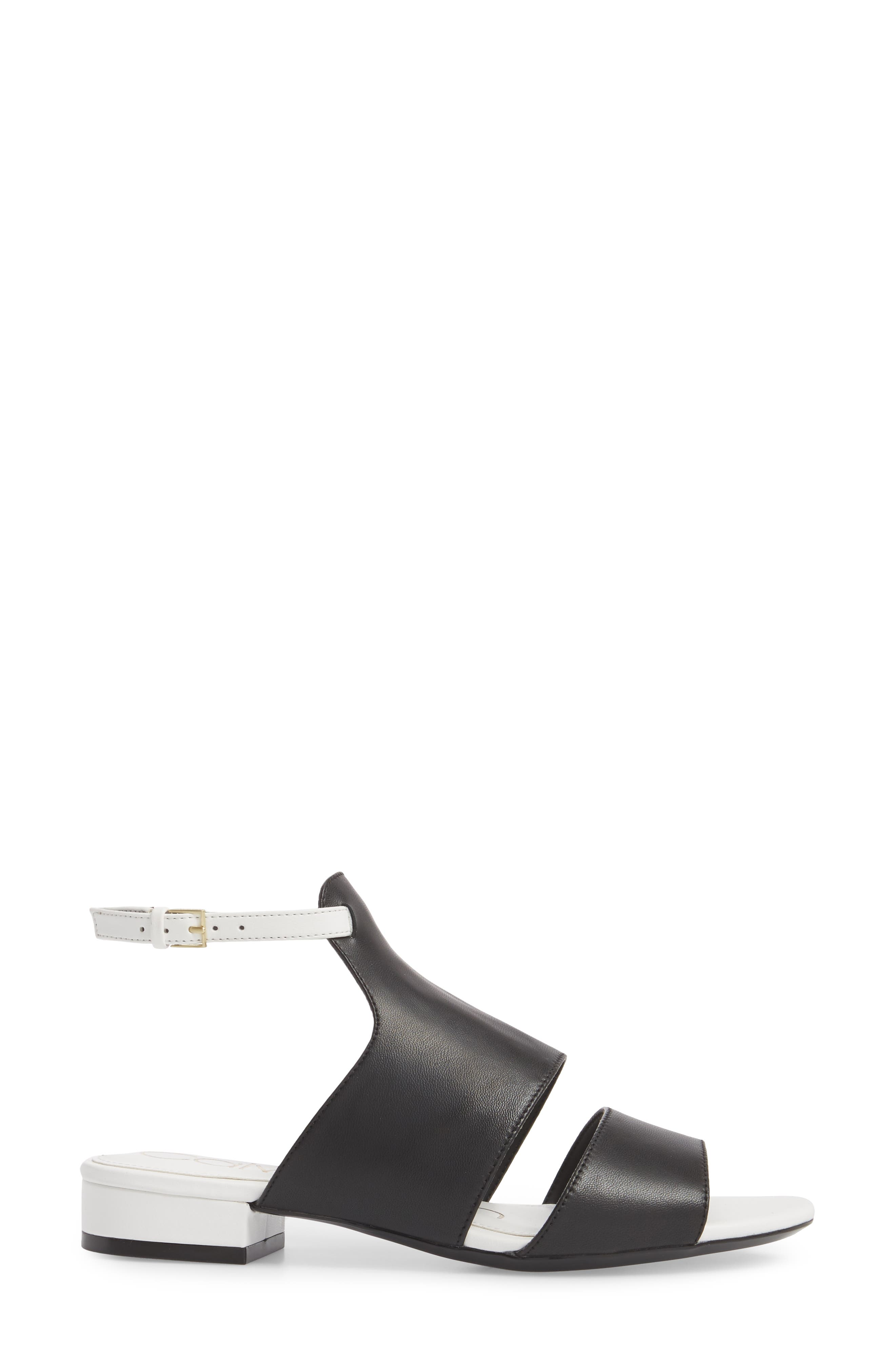 Fernarda Sandal,                             Alternate thumbnail 3, color,                             Black Leather