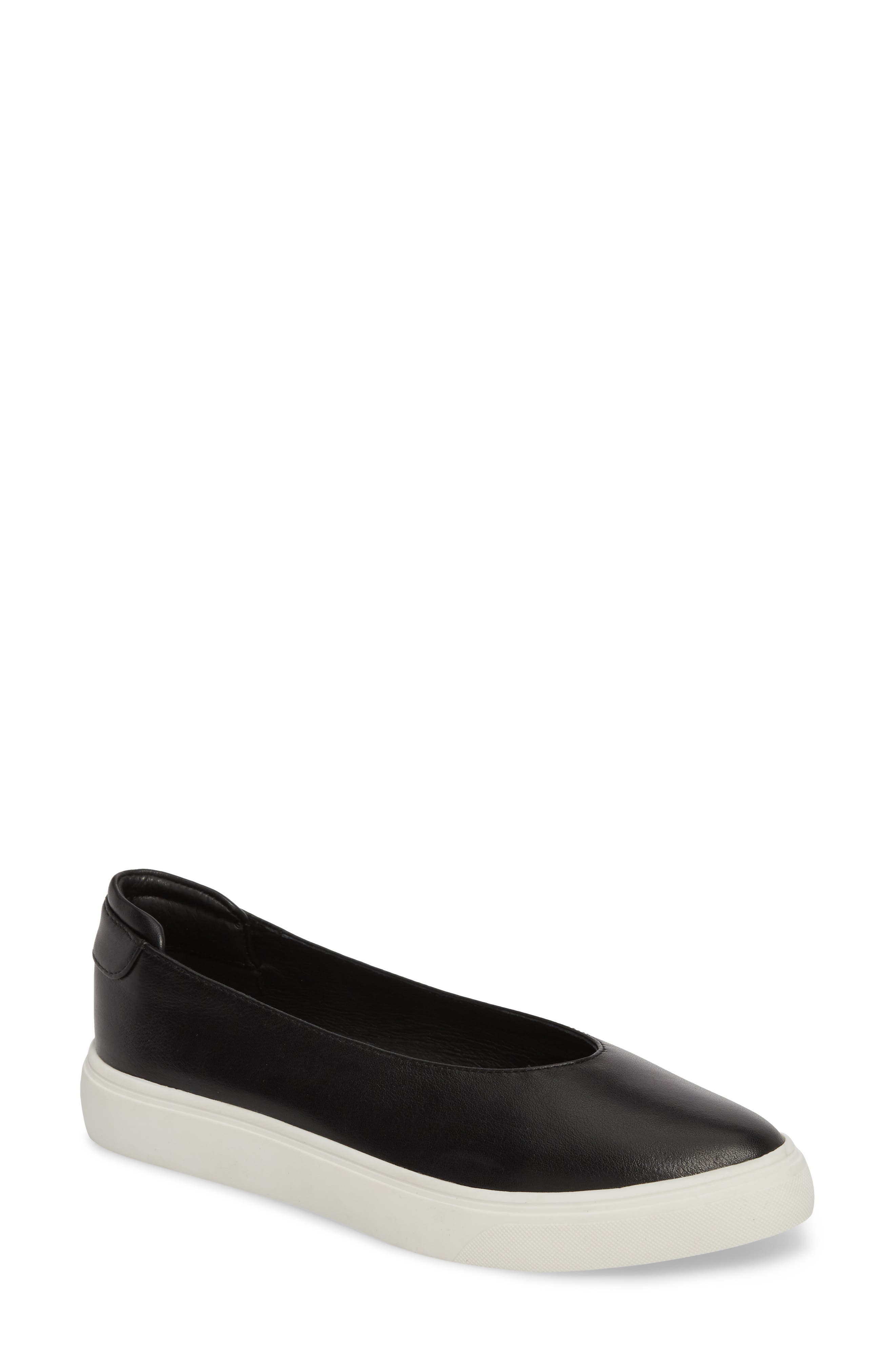 JSLIDES Gwen Leather Platform Sneakers in Black