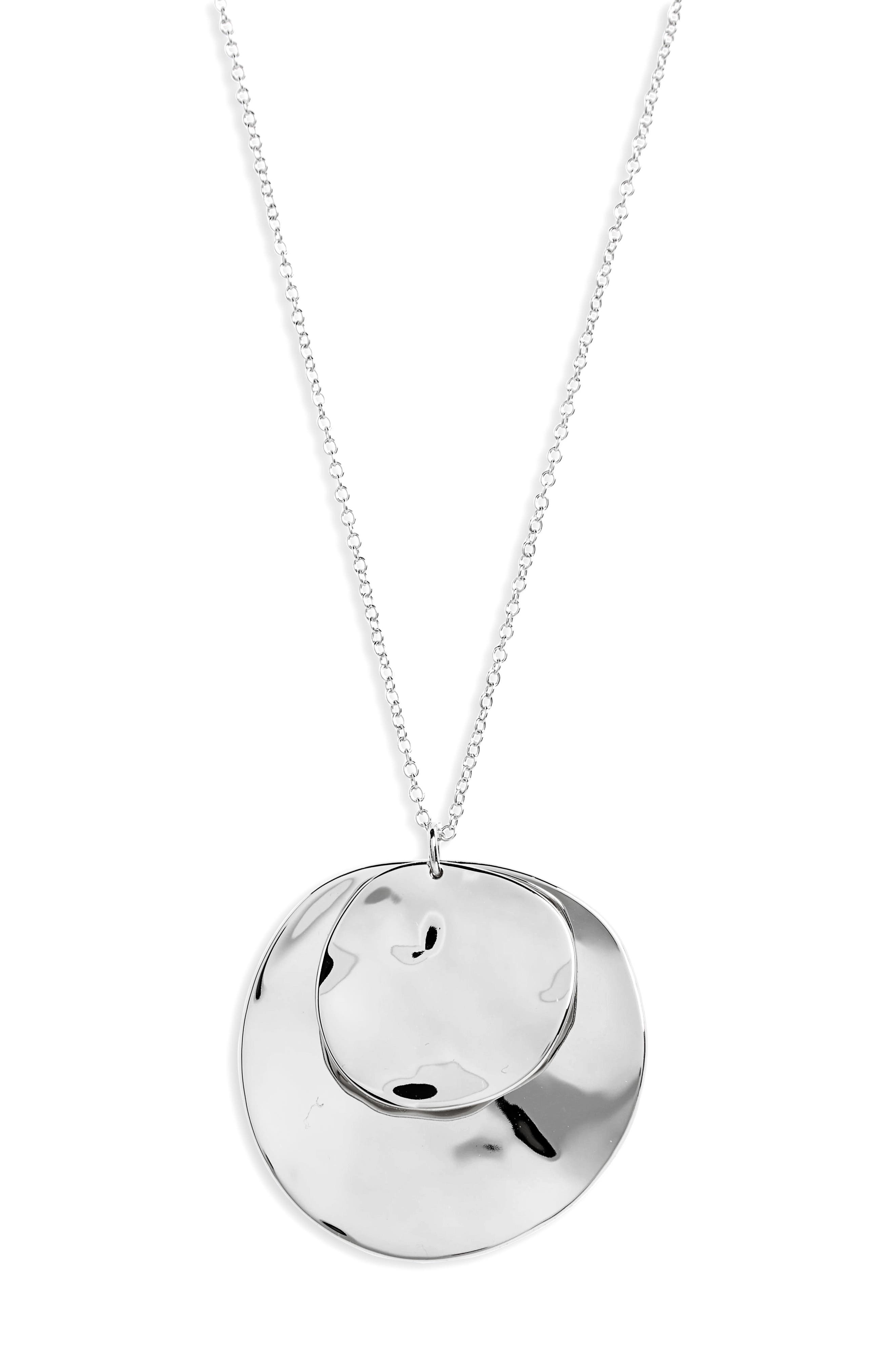 Chloe Long Cluster Pendant Necklace,                             Alternate thumbnail 2, color,                             Silver