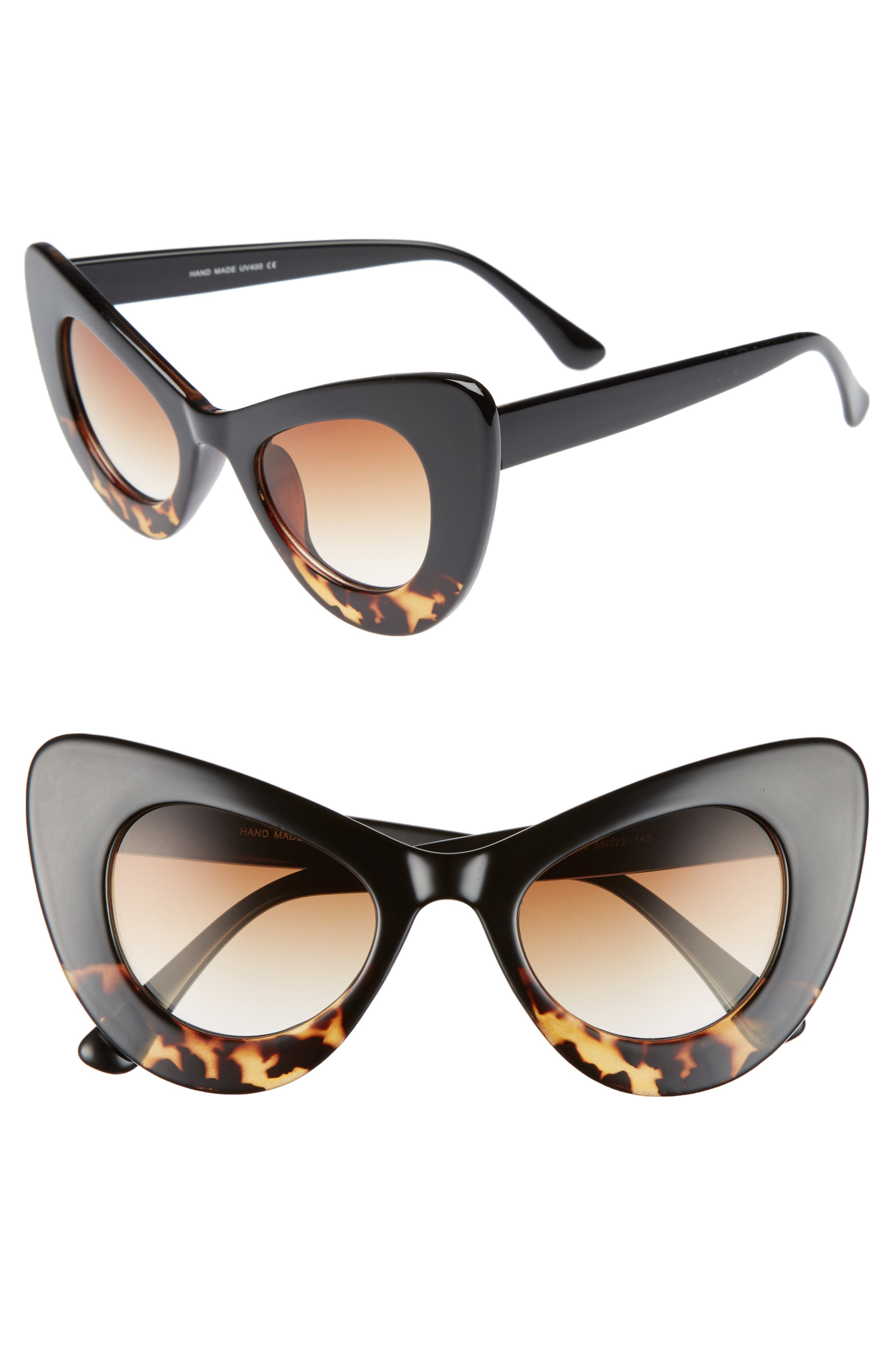 La Double 7 55mm Exaggerated Cat Eye Sunglasses