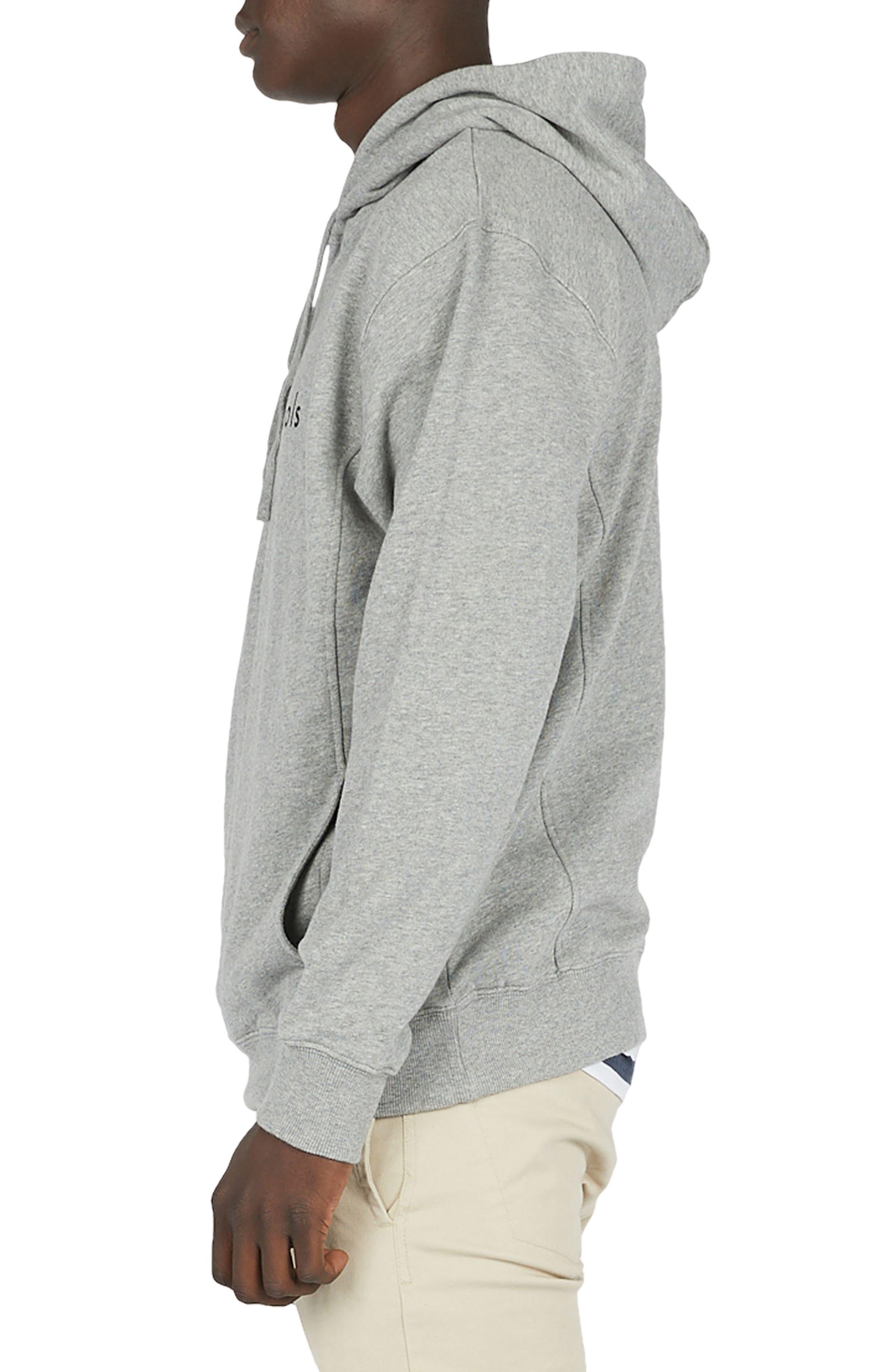 Logo Hoodie Sweatshirt,                             Alternate thumbnail 3, color,                             Grey Melange