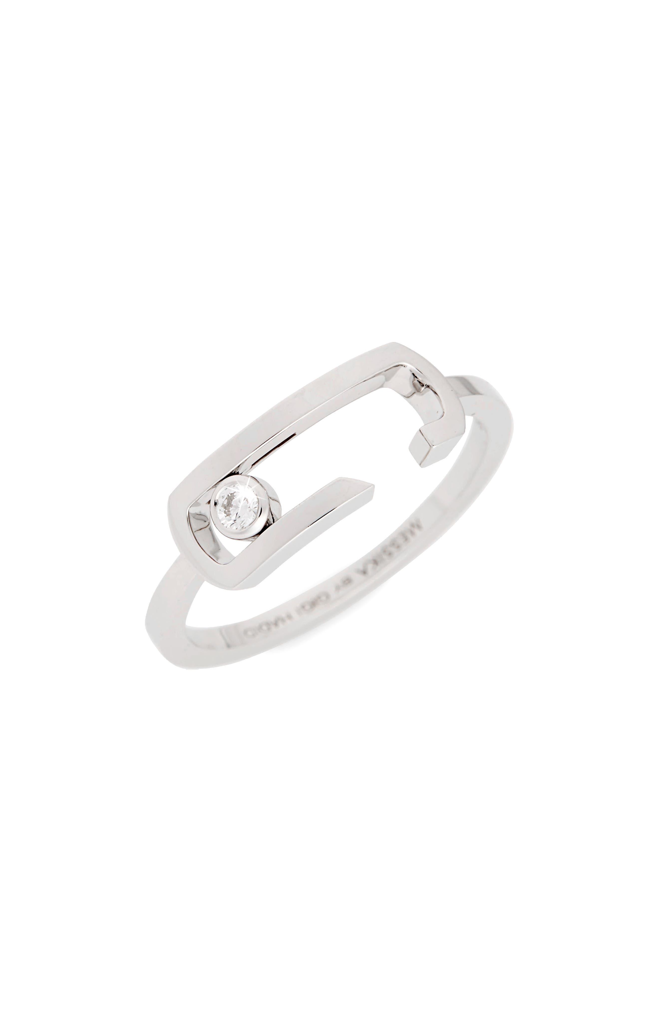by Gigi Hadid Move Addiction 18K Gold & Diamond Ring,                         Main,                         color, White Gold