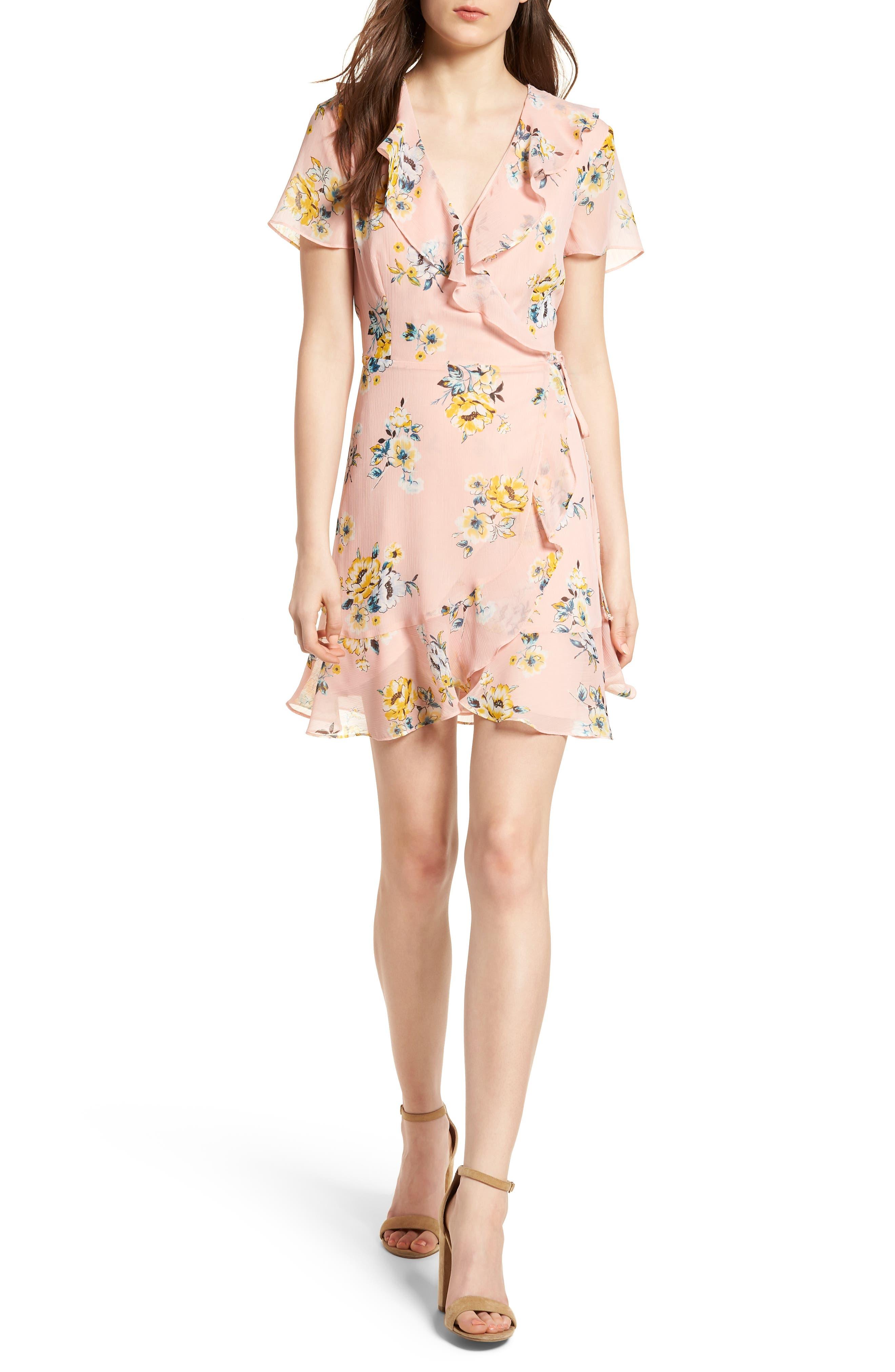 Colie Ruffle Wrap Dress