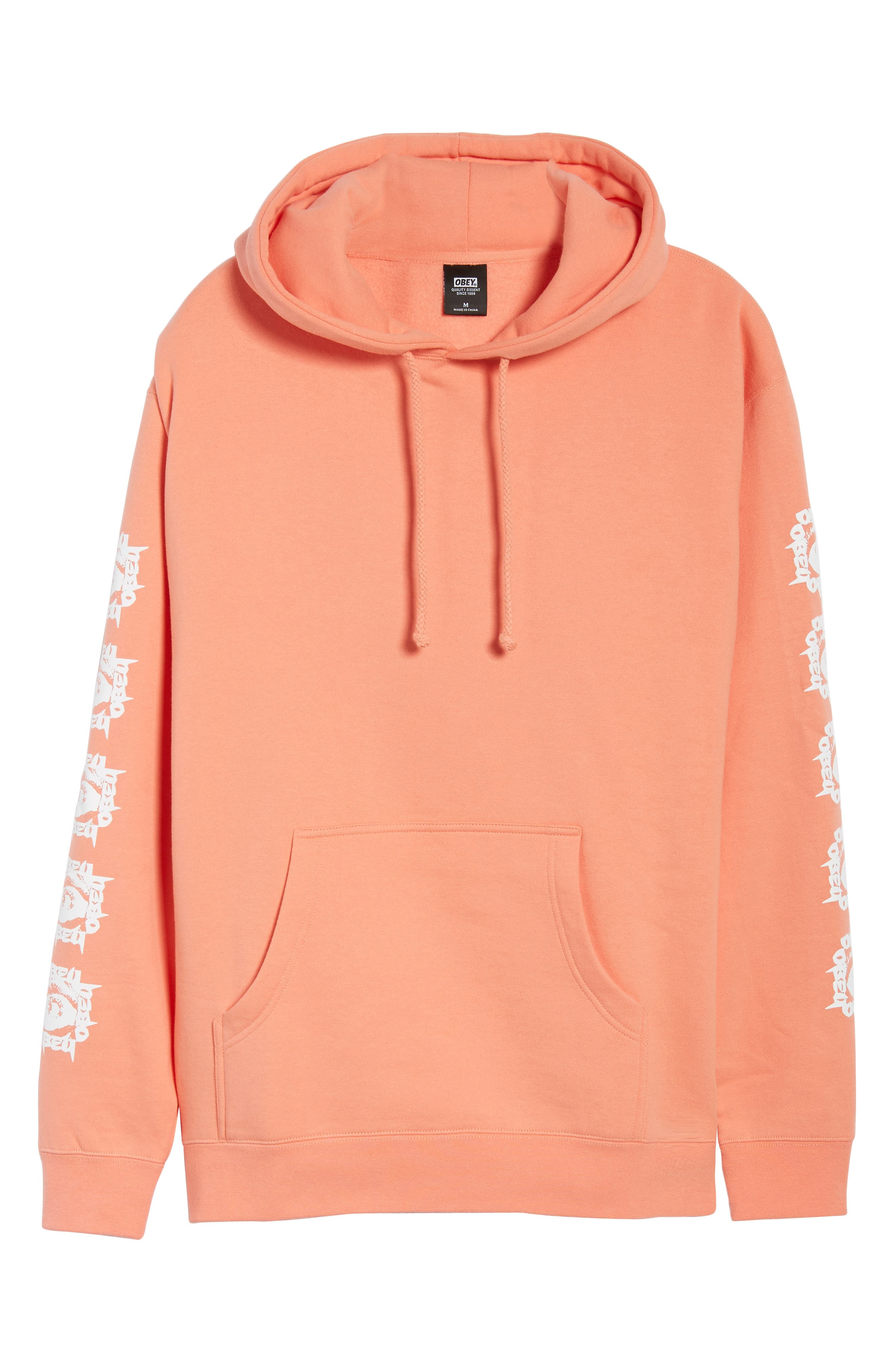 Tunnel Vision Hoodie Sweatshirt,                             Alternate thumbnail 6, color,                             Coral