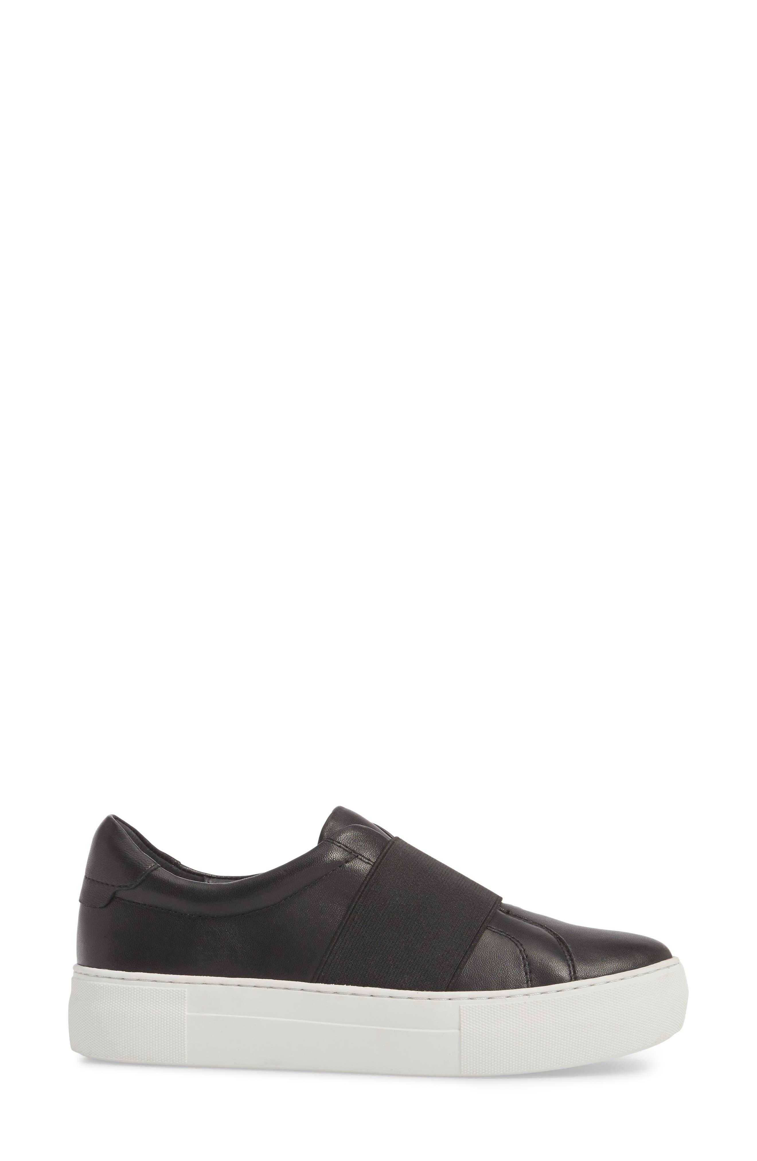 Adorn Slip-On Sneaker,                             Alternate thumbnail 3, color,                             Black/ Black Leather