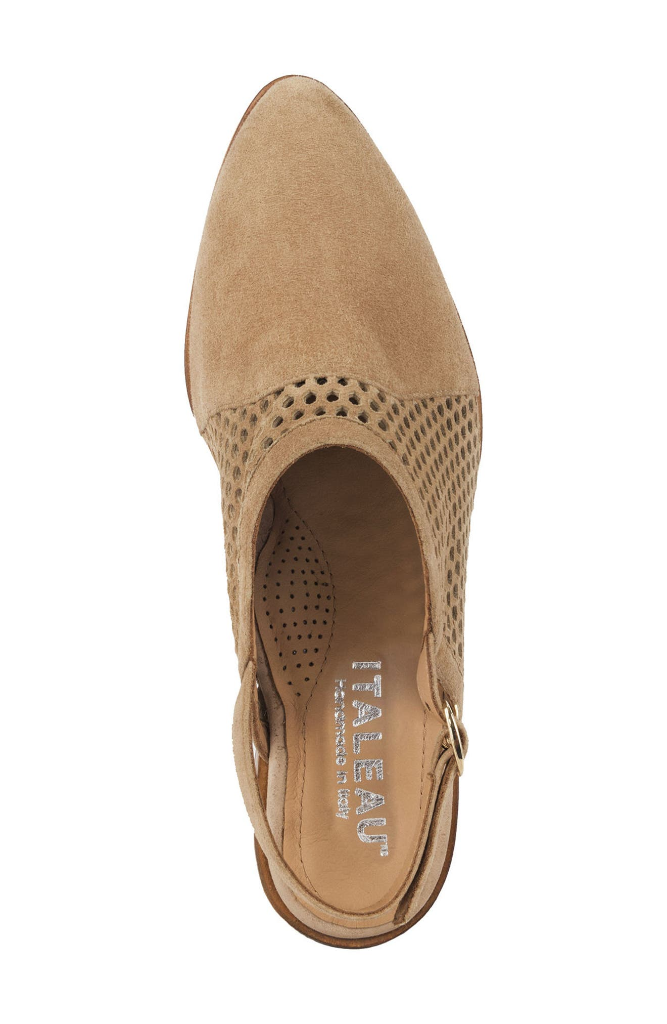 Toselli Water Resistant Slingback Bootie,                             Alternate thumbnail 5, color,                             Sand