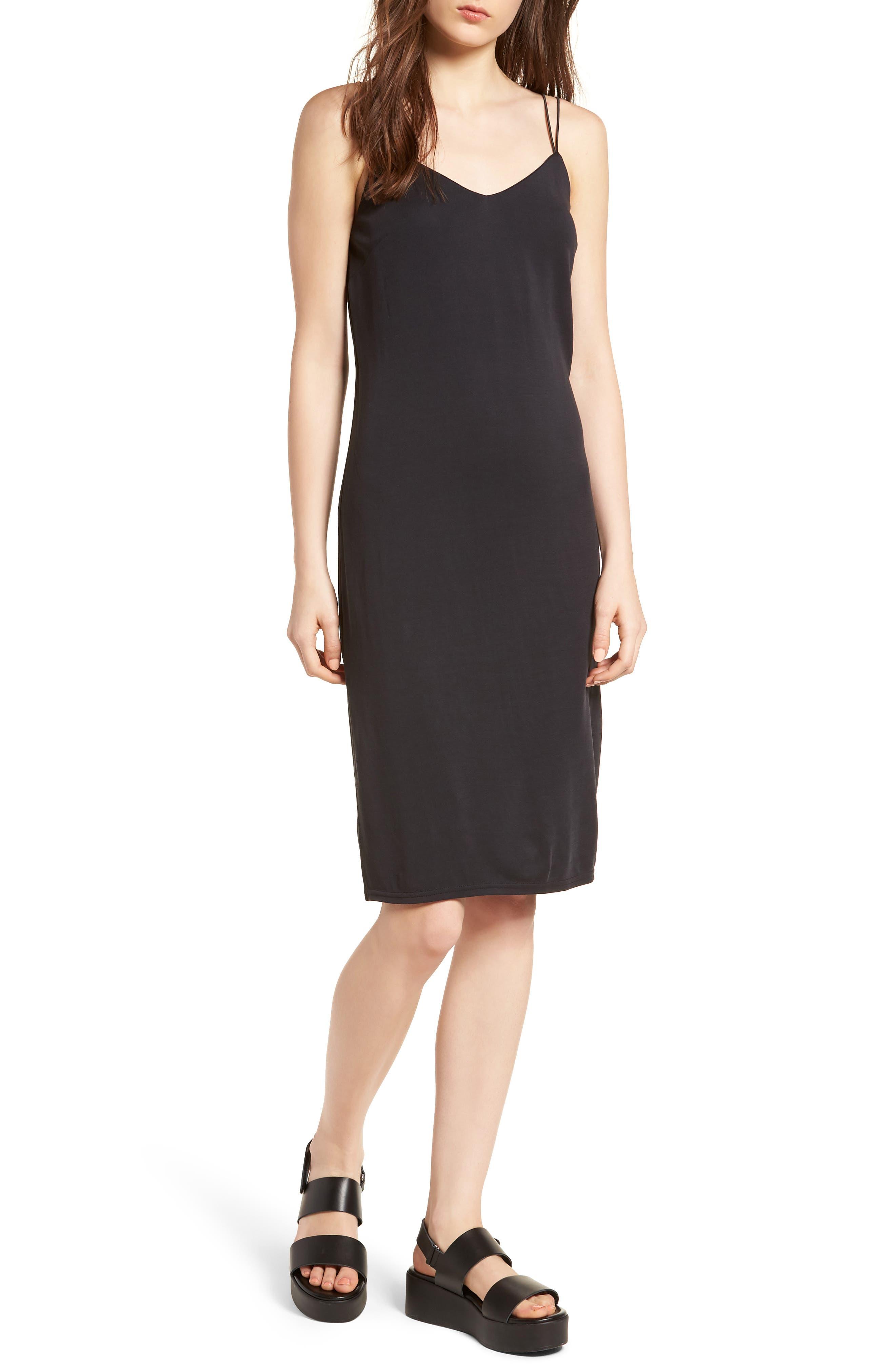 Alley Strappy Camisole Dress,                         Main,                         color, Black