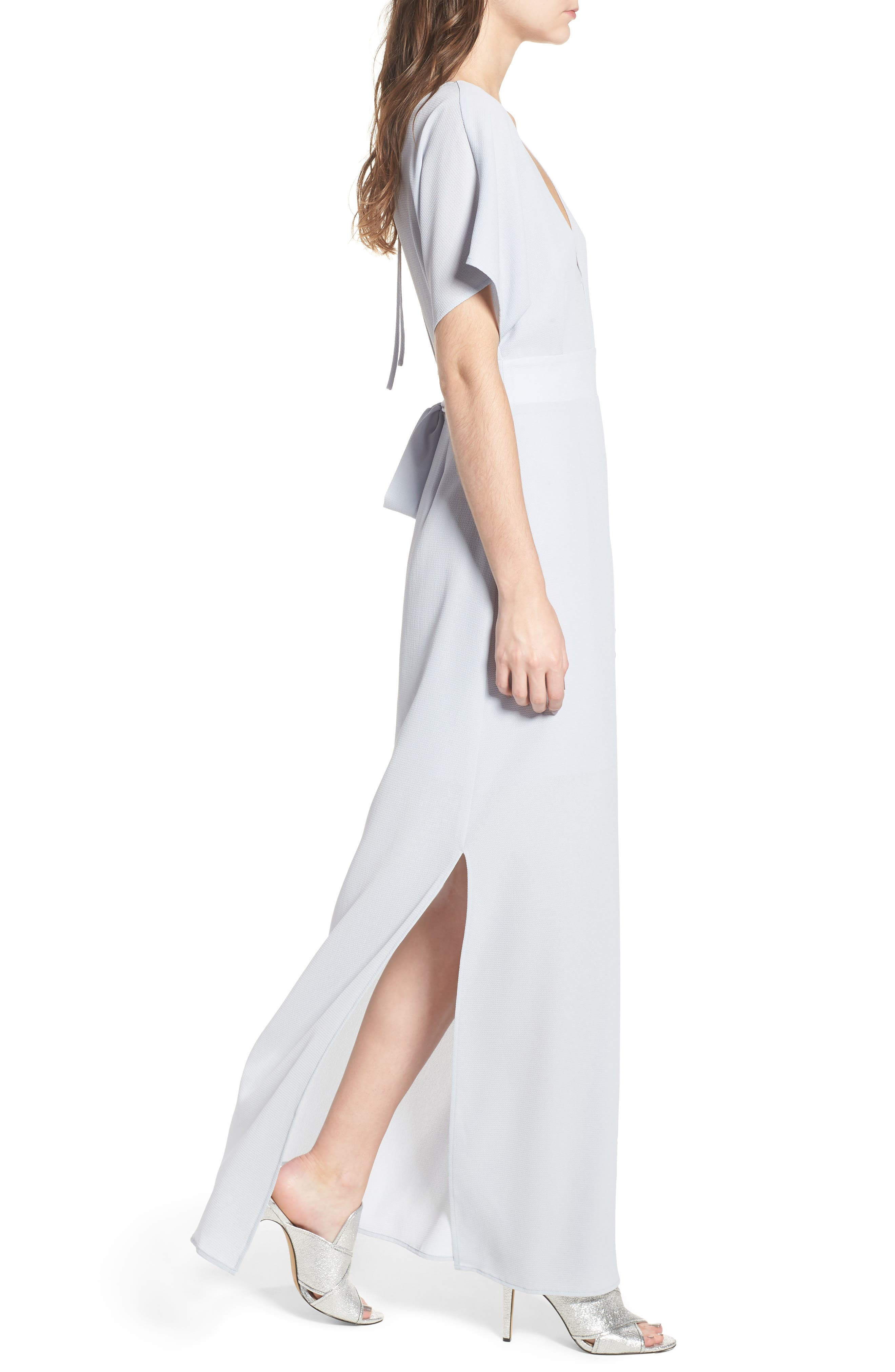 Carrara Slit Maxi Dress,                             Alternate thumbnail 3, color,                             Blue Ice