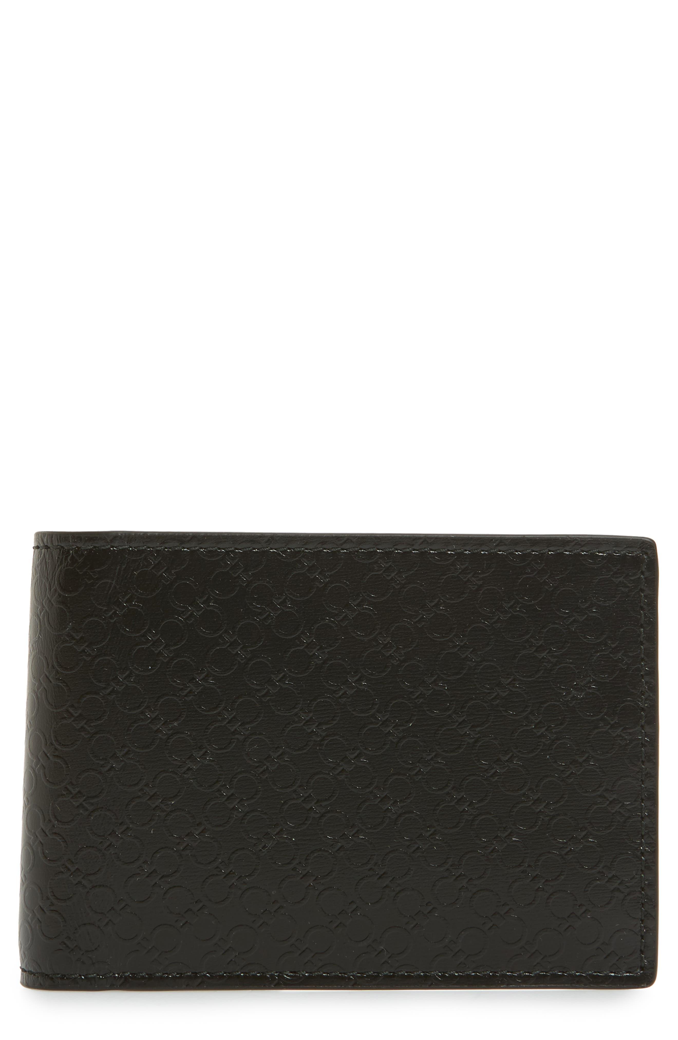 Alternate Image 1 Selected - Salvatore Ferragamo Gancini Leather Card Case