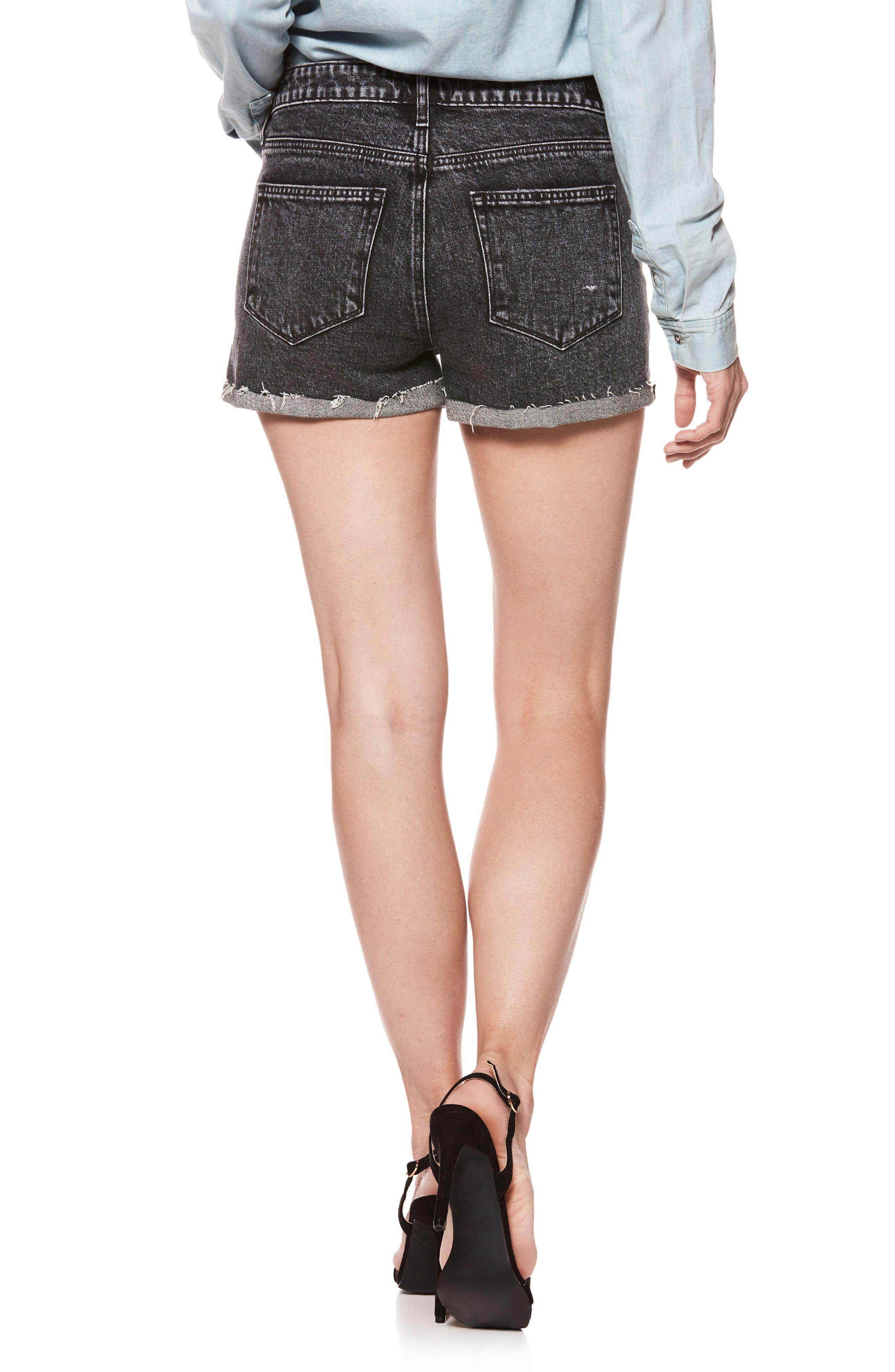 Alternate Image 3  - PAIGE Sarah High Waist Cutoff Denim Shorts (Zephra)