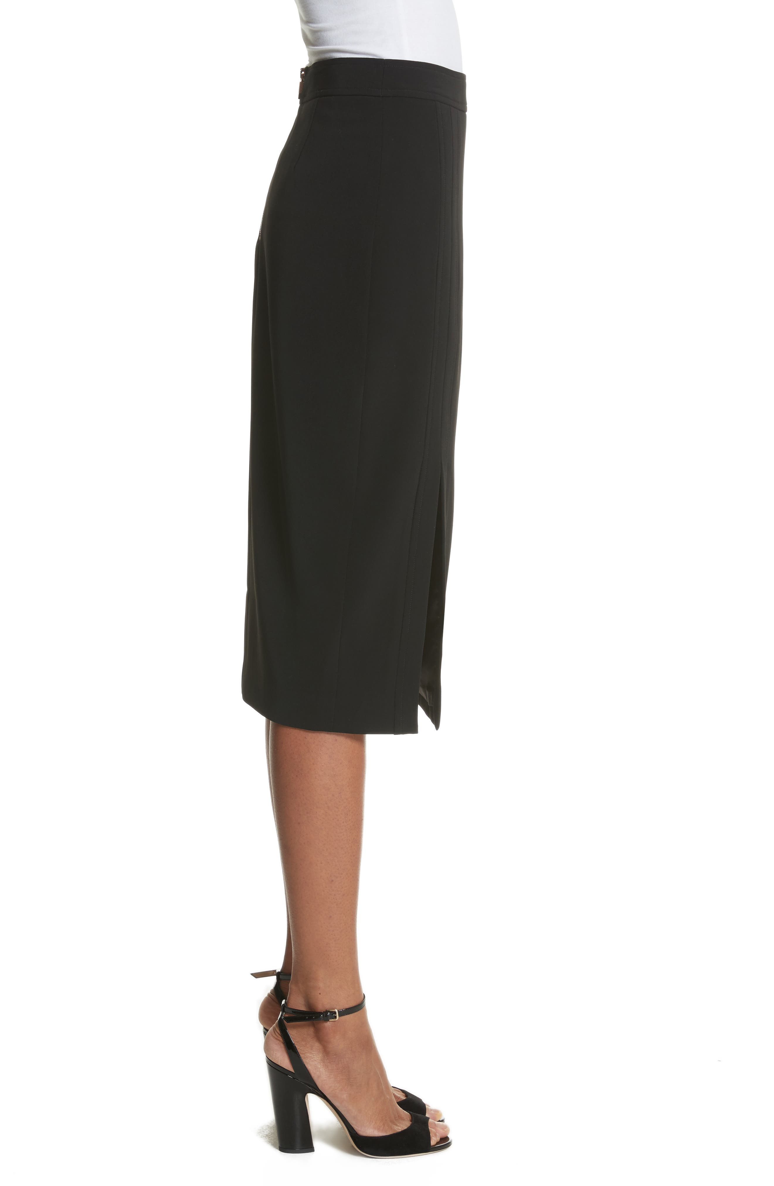 Pencil Skirt,                             Alternate thumbnail 3, color,                             Black