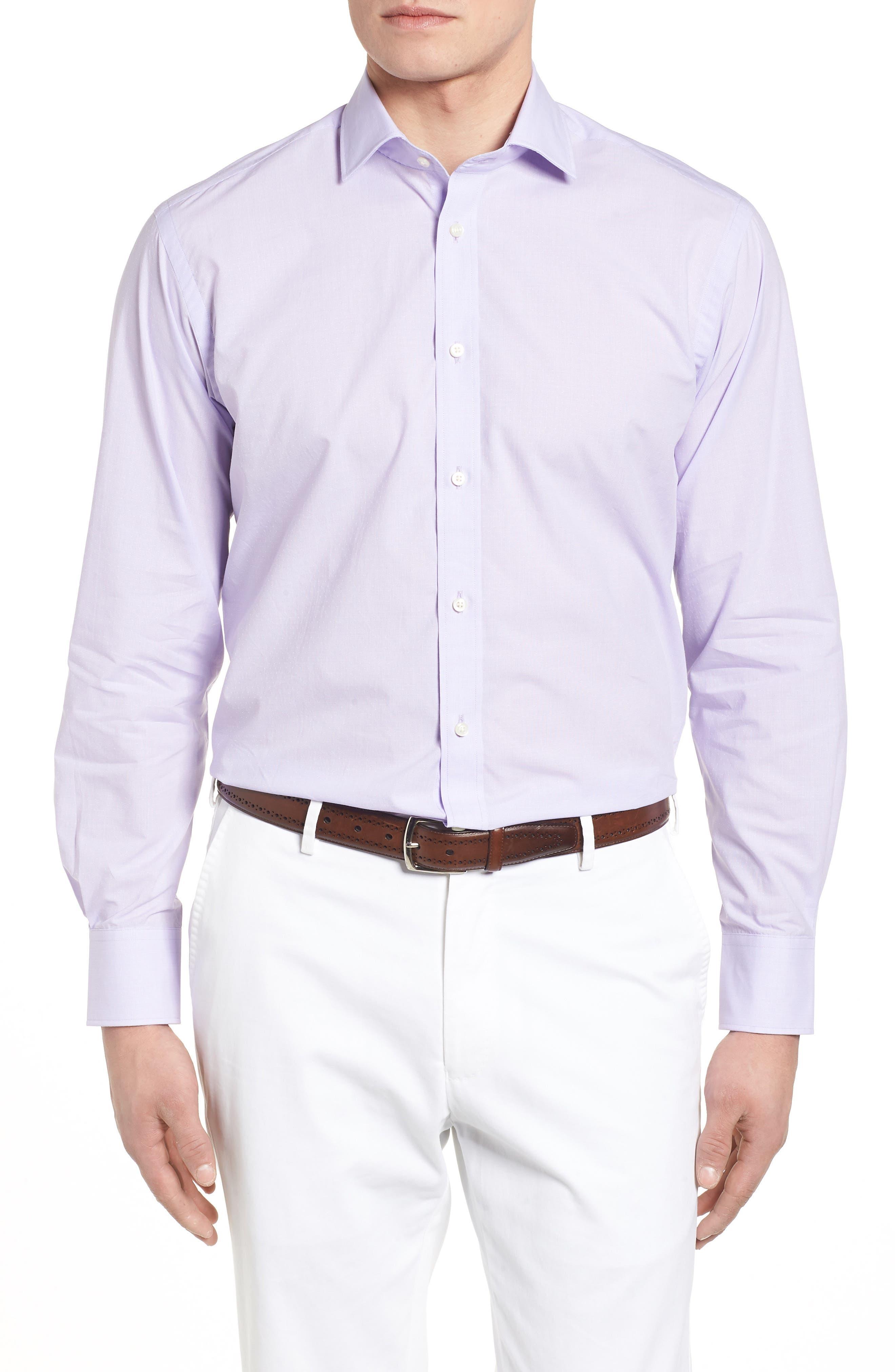 Large Check Sport Shirt,                         Main,                         color, Purple