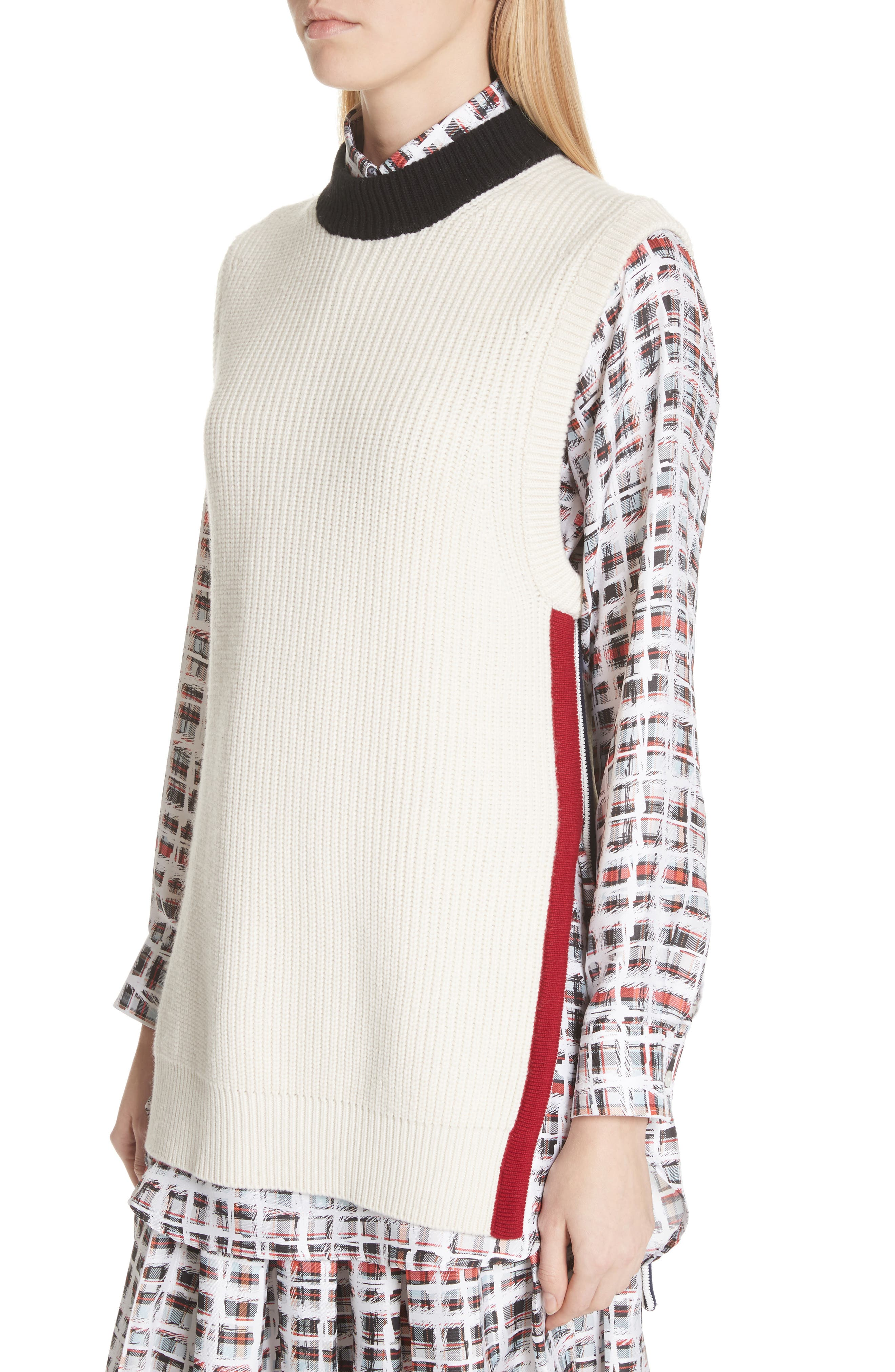 Knox 55 Wool & Cashmere Sweater,                             Alternate thumbnail 4, color,                             Natural White