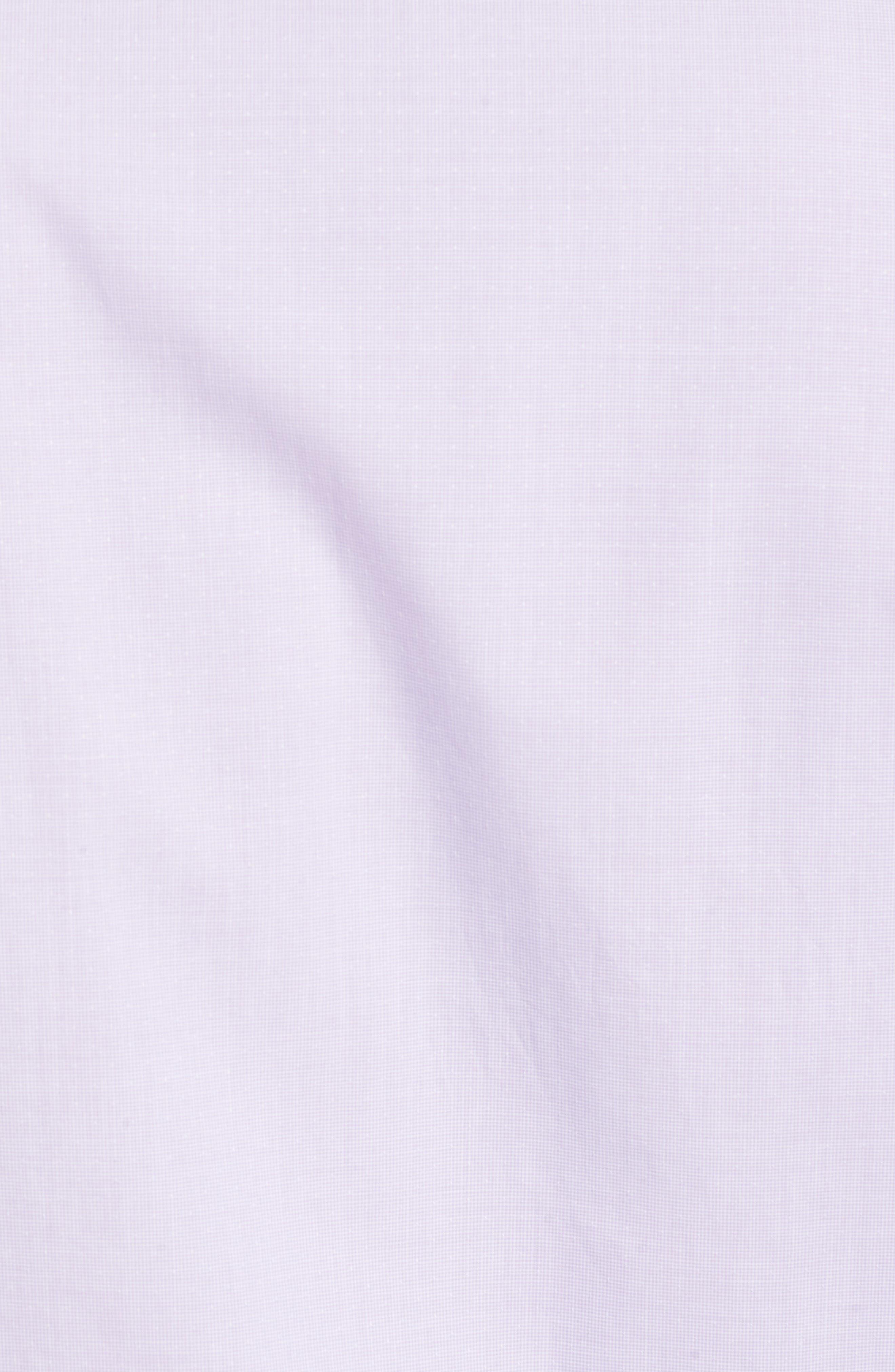 Large Check Sport Shirt,                             Alternate thumbnail 5, color,                             Purple