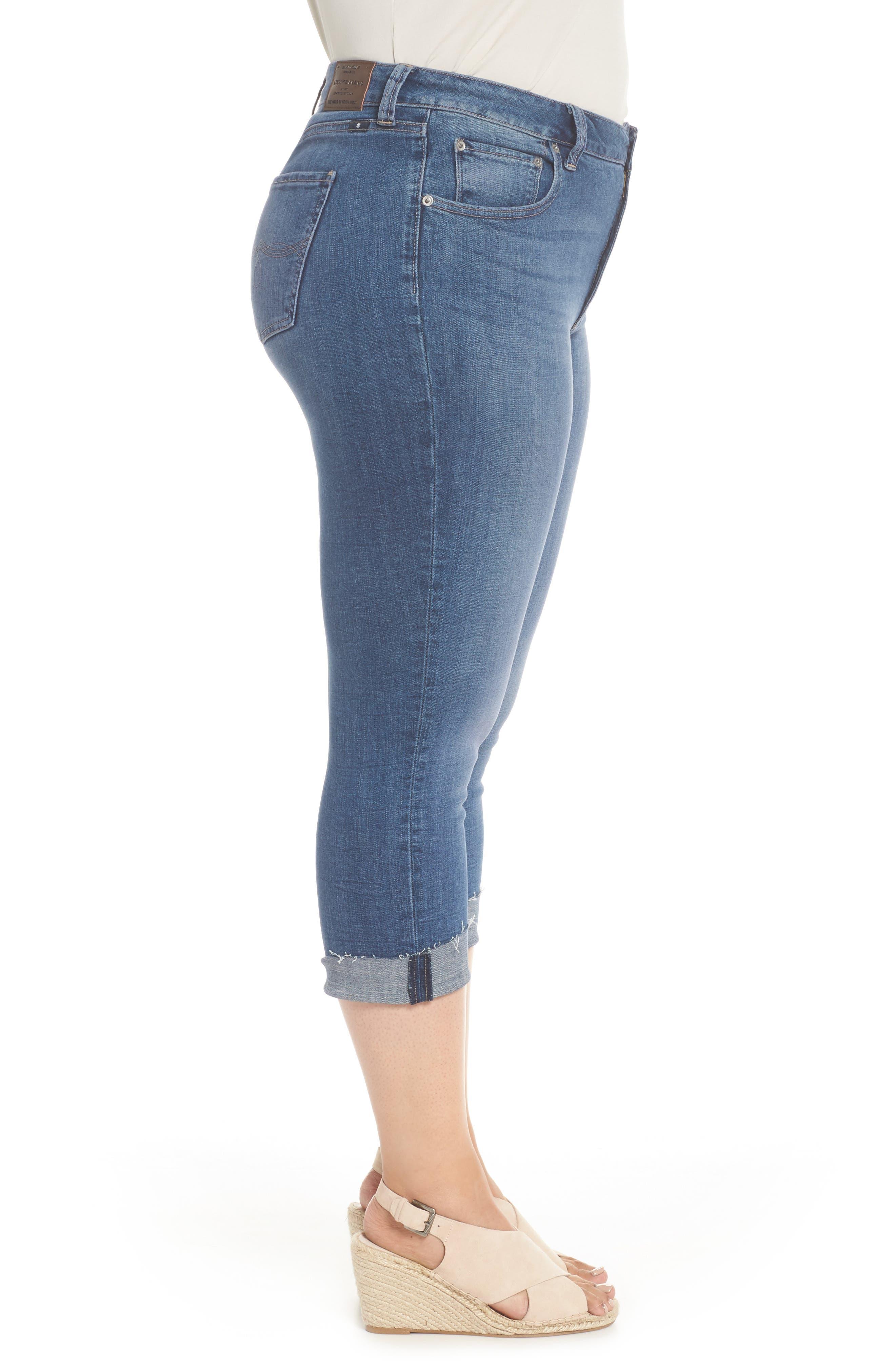 Emma Crop Skinny Jeans,                             Alternate thumbnail 3, color,                             Sunbeam-P