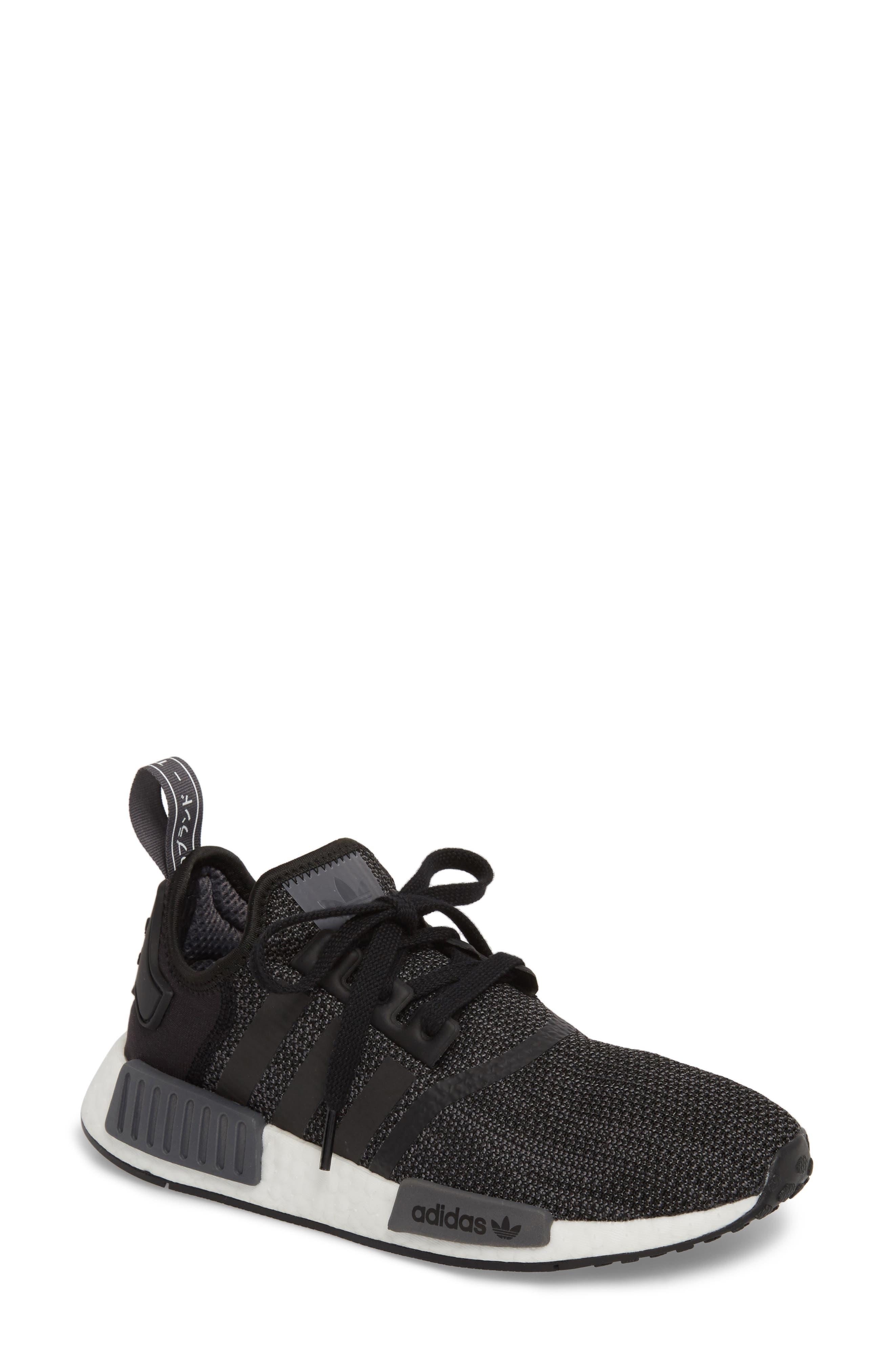 adidas NMD R1 Athletic Shoe (Women). BLACK/ CARBON/ WHITE ...