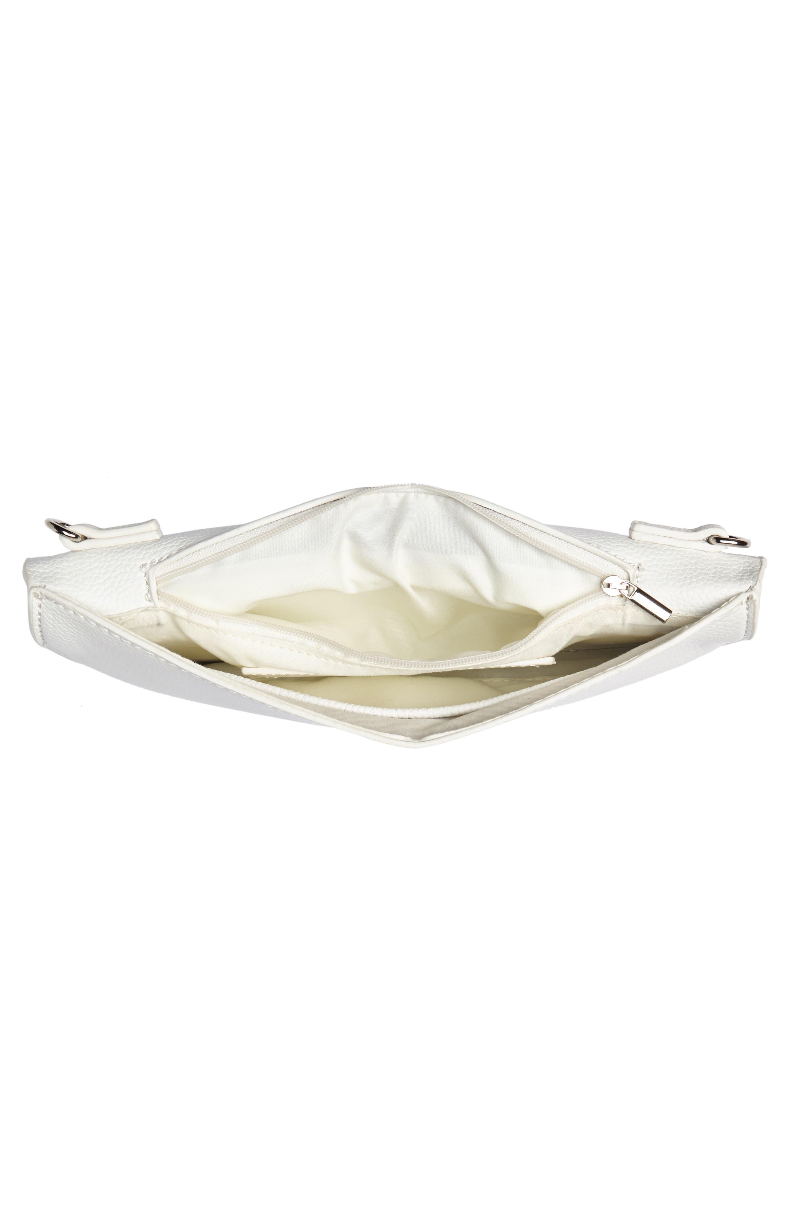 Grommet Convertible Crossbody Bag,                             Alternate thumbnail 4, color,                             White