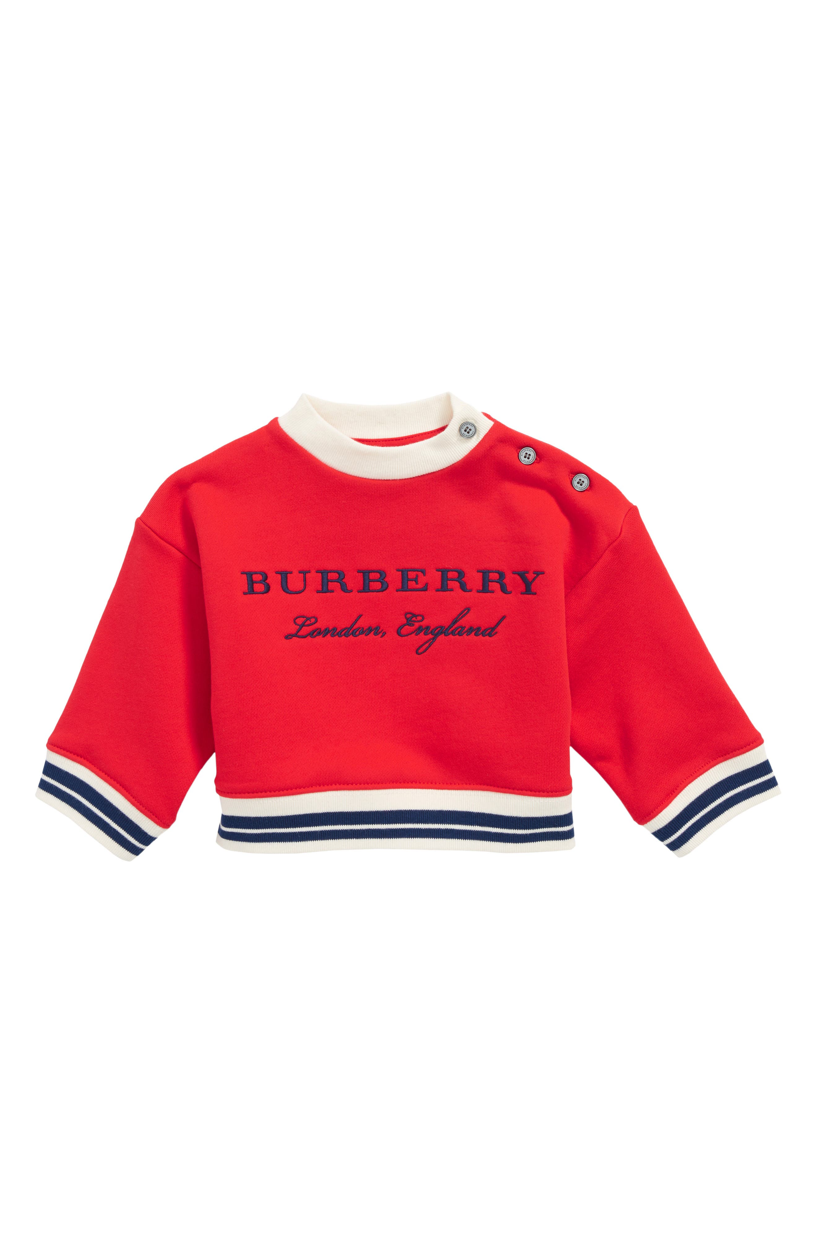 Emillia Logo Sweatshirt,                             Main thumbnail 1, color,                             Bright Orange Red
