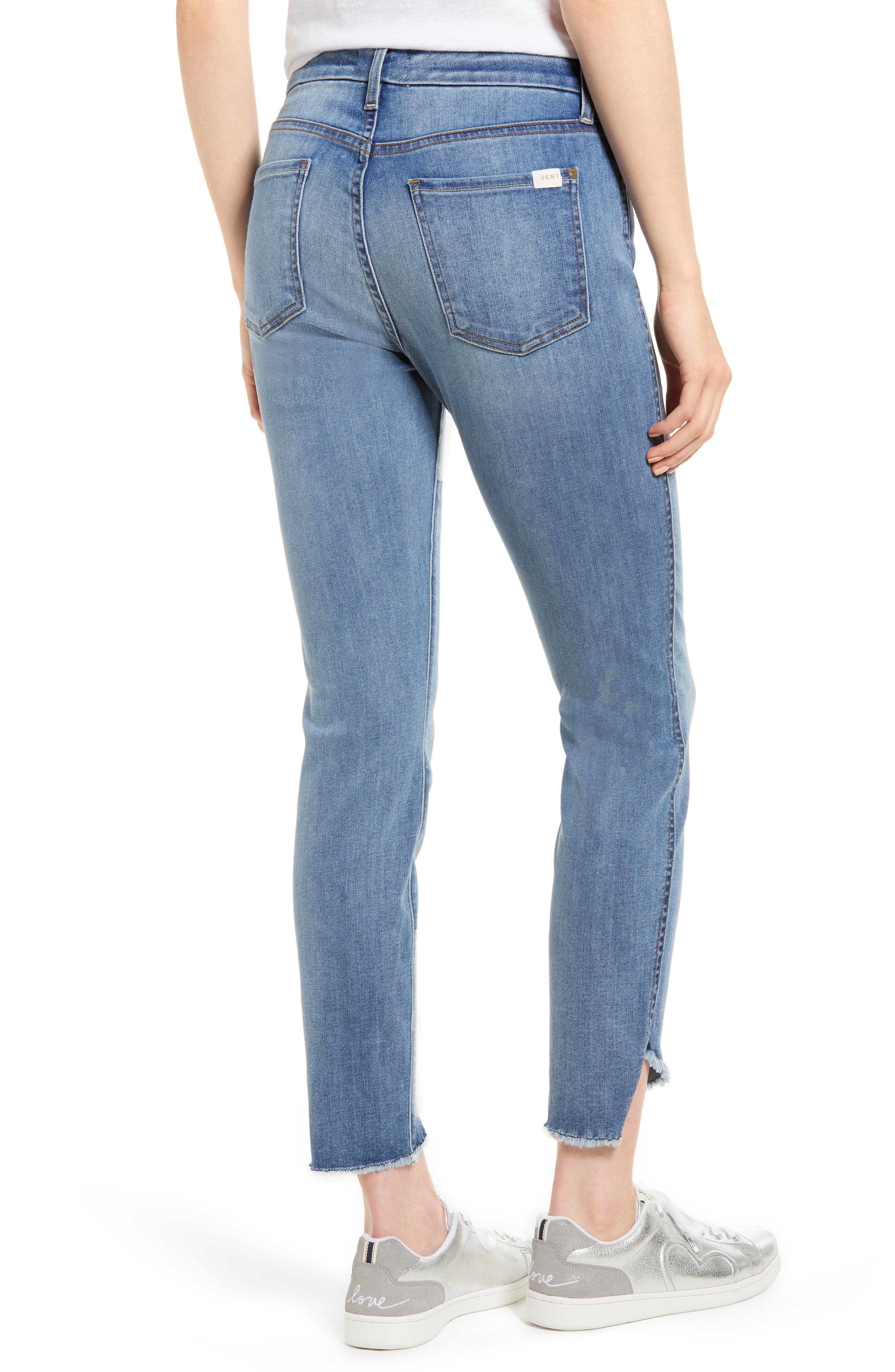 Raw Hem Skinny Jeans,                             Alternate thumbnail 2, color,                             Sunlight