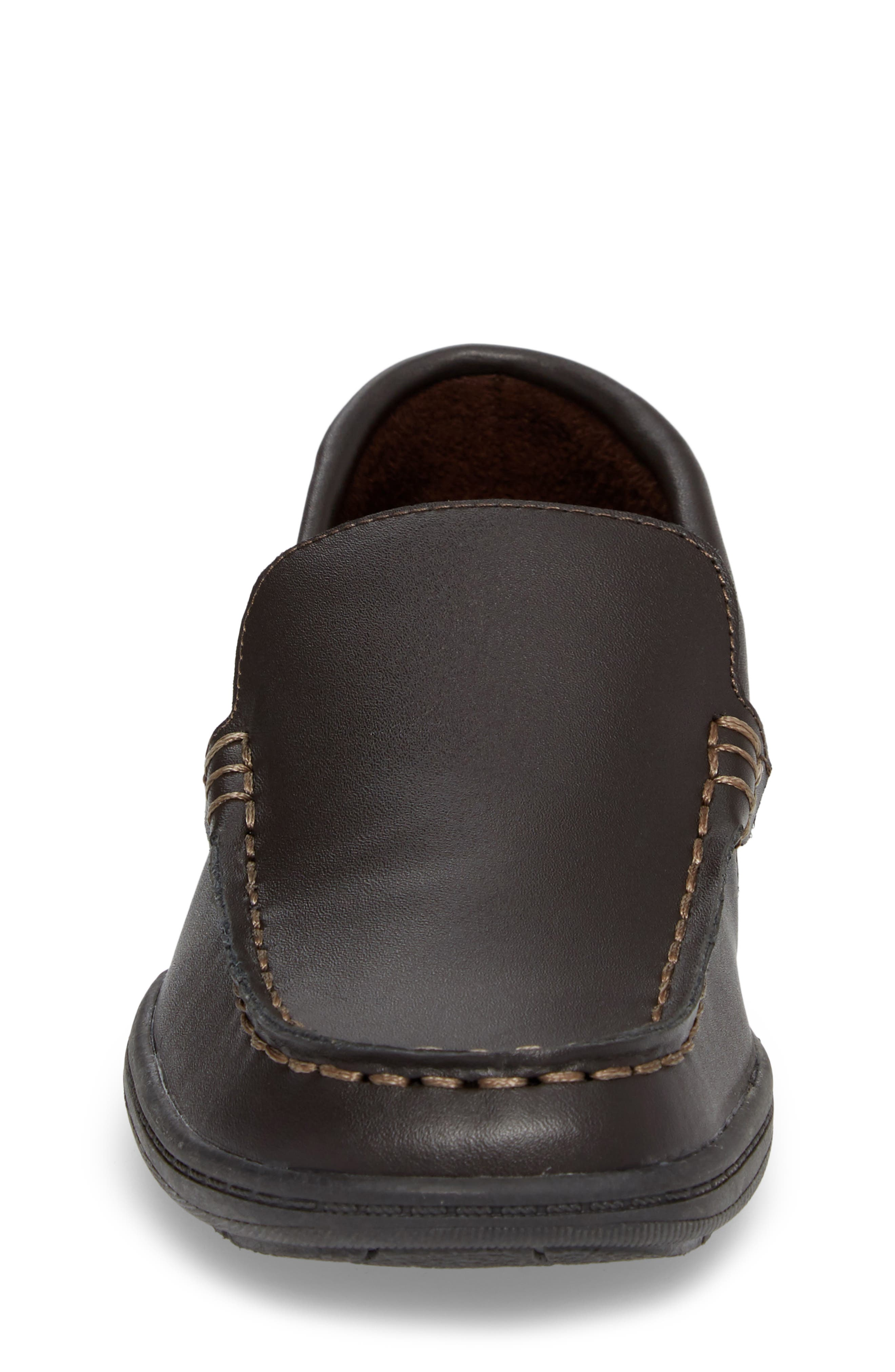 Driving Dime Moccasin,                             Alternate thumbnail 4, color,                             Dark Brown Leather