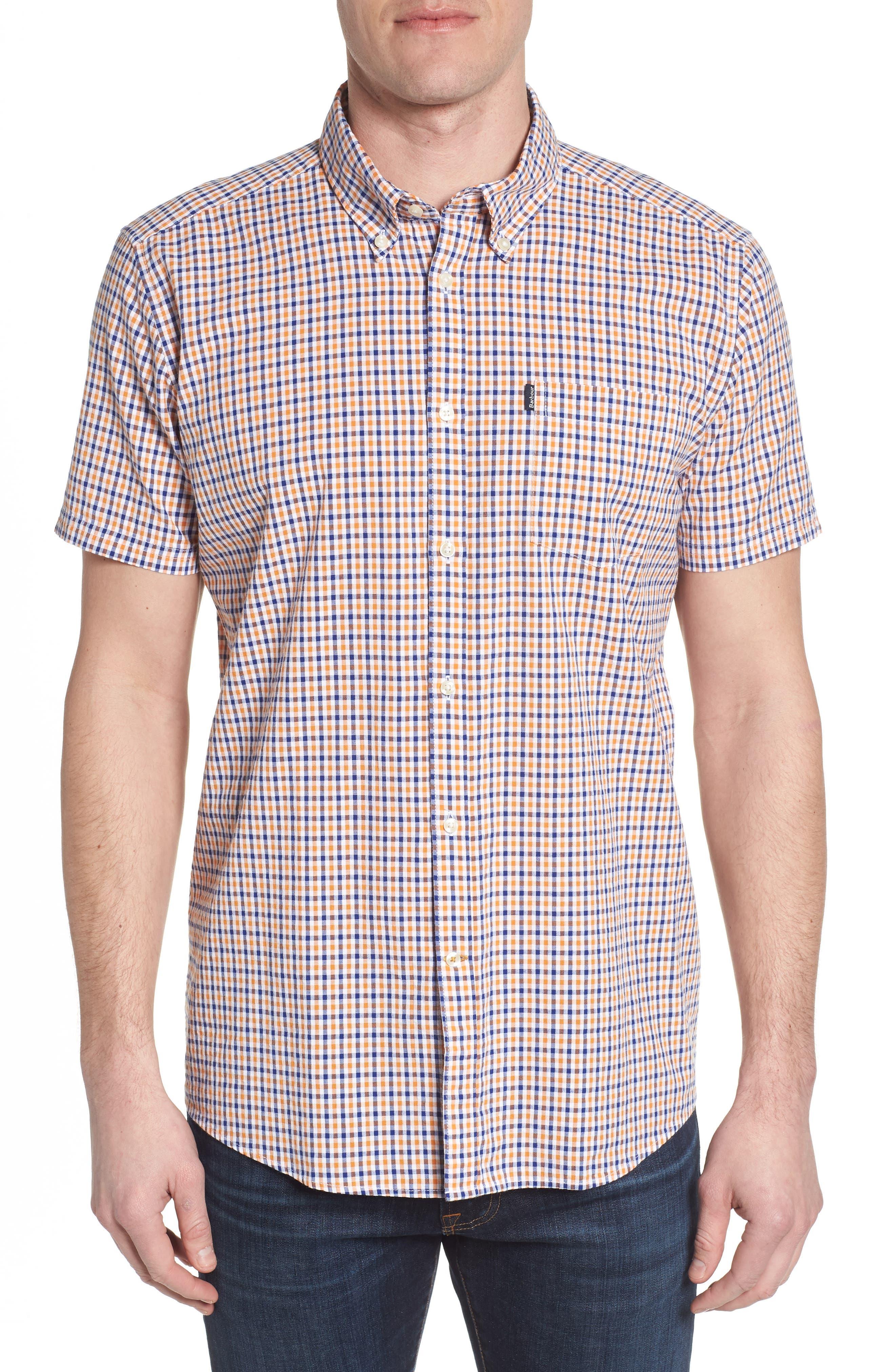 Barbour Taylor Regular Fit Check Short Sleeve Sport Shirt