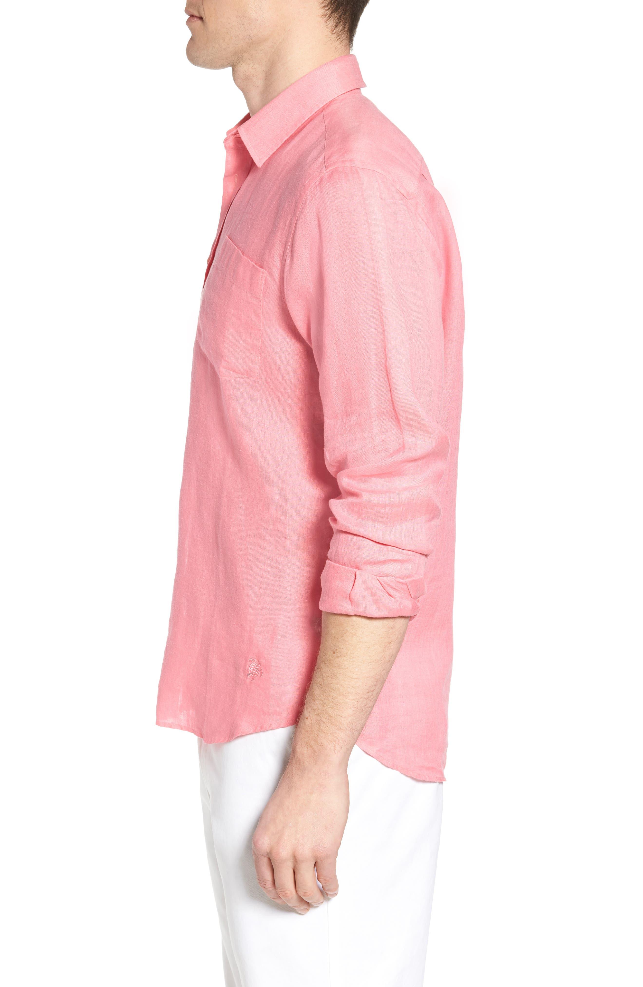 Alternate Image 4  - Vilebrequin Caroubie Regular Fit Linen Sport Shirt