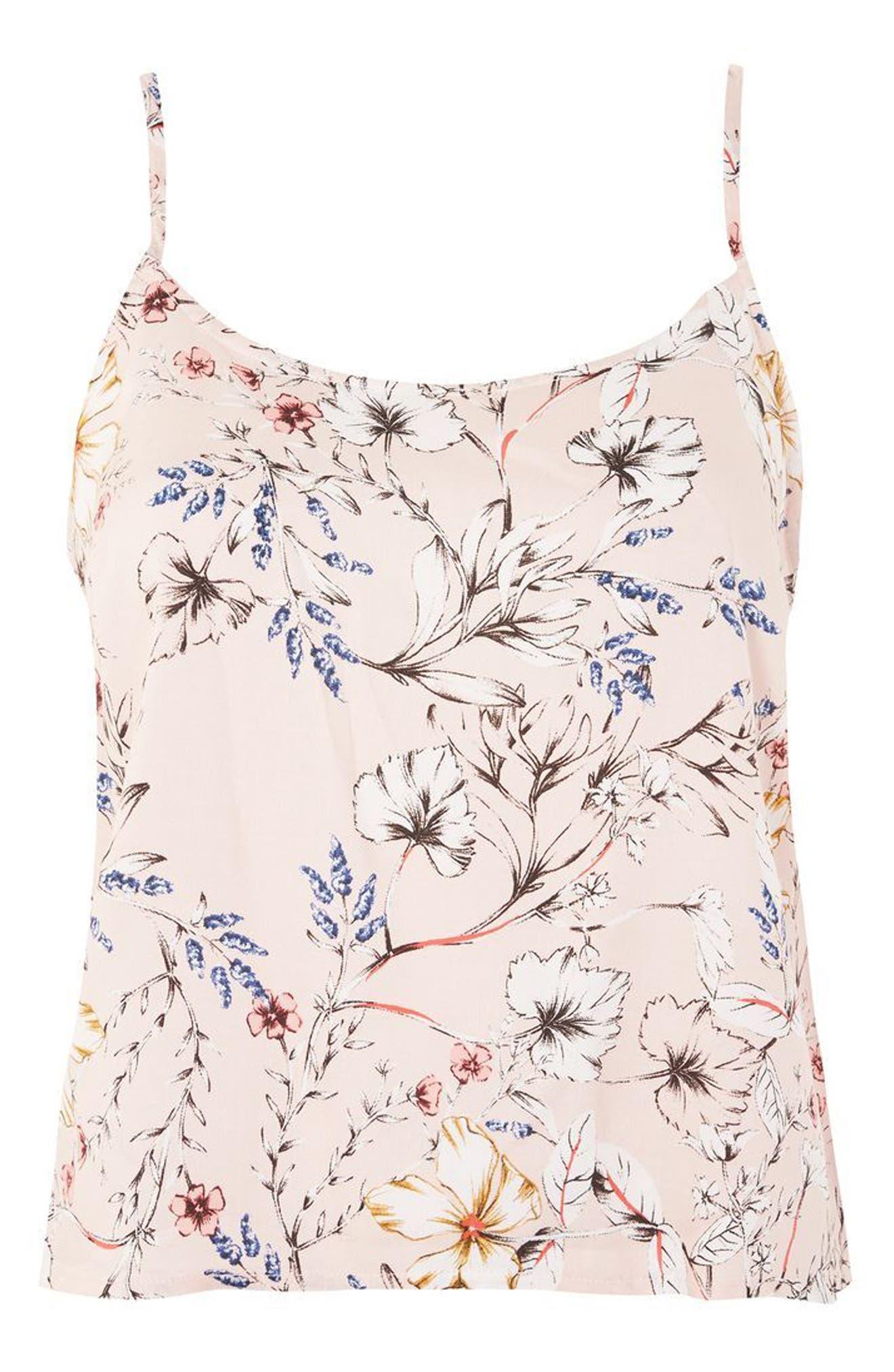 Topshop Sketchy Floral Camisole