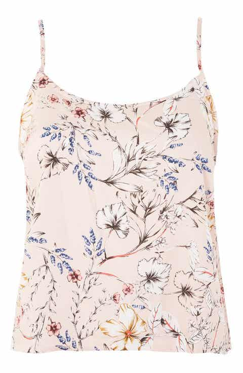 Topshop Sketchy Floral Camisole Cheap