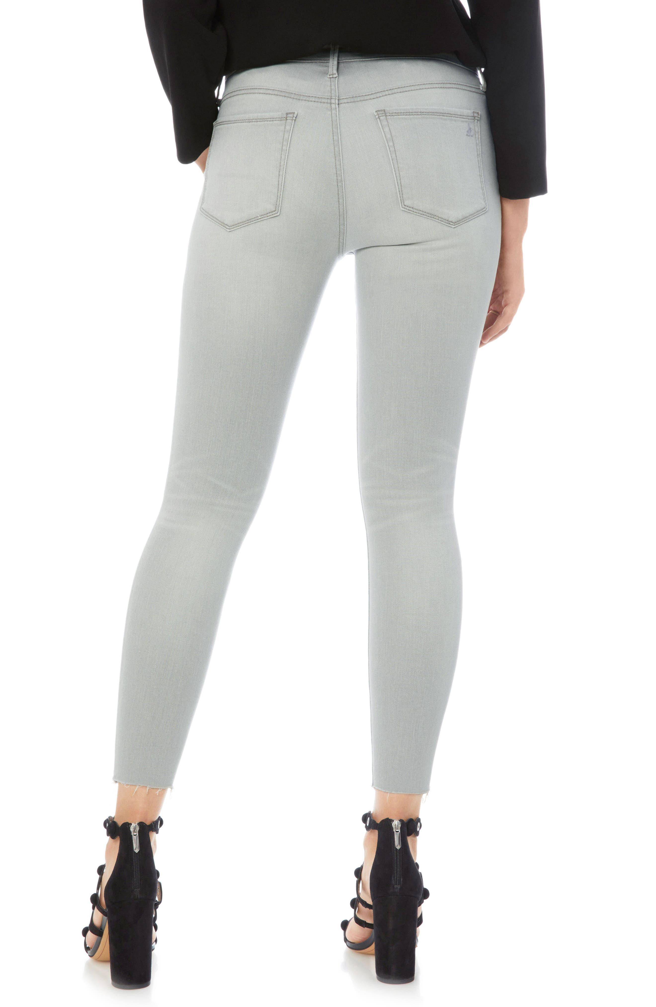The Stiletto Raw Hem Skinny Jeans,                             Alternate thumbnail 2, color,                             Mazi