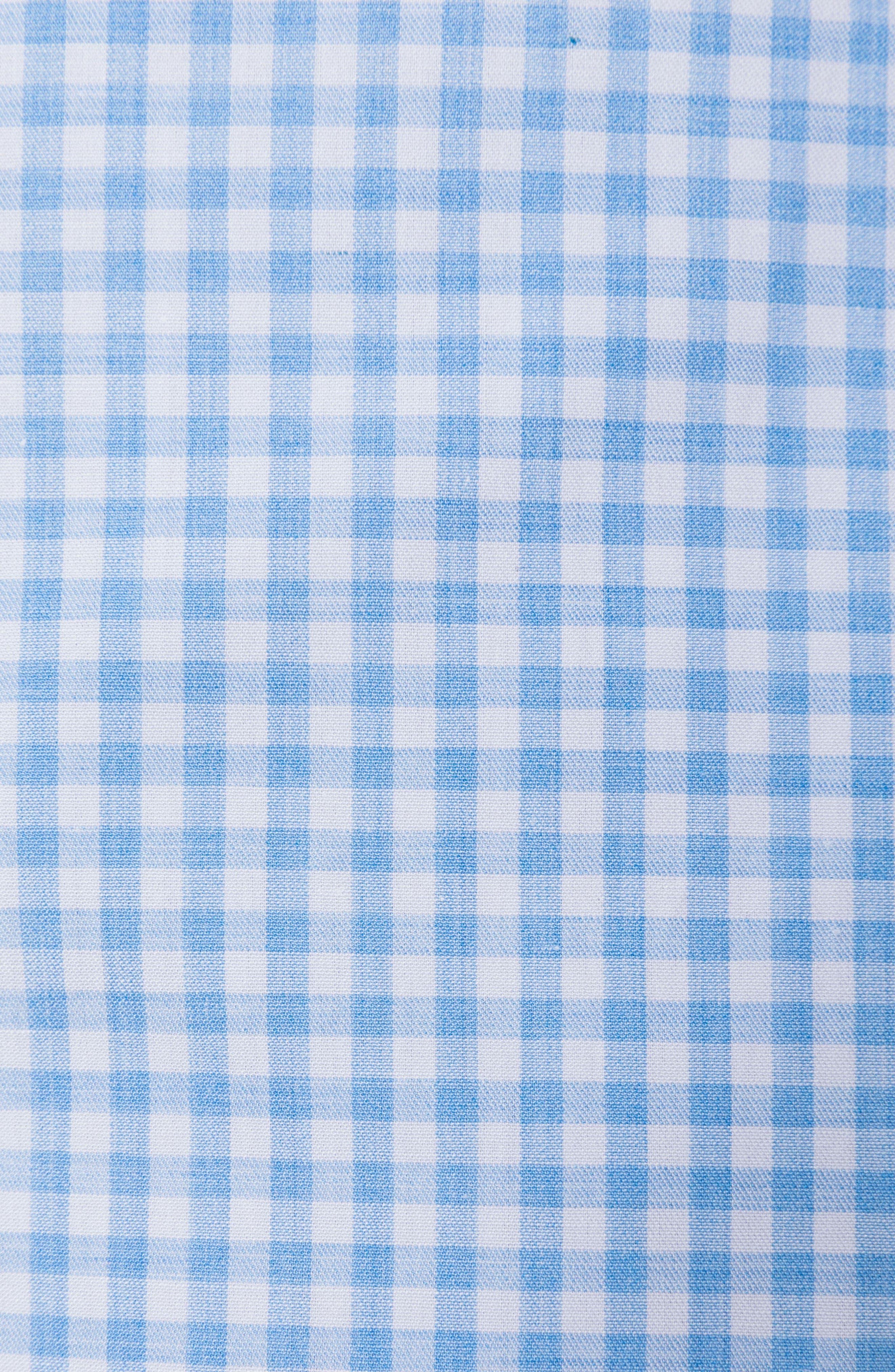 Tudor Slim Fit Check Sport Shirt,                             Alternate thumbnail 3, color,                             Sky