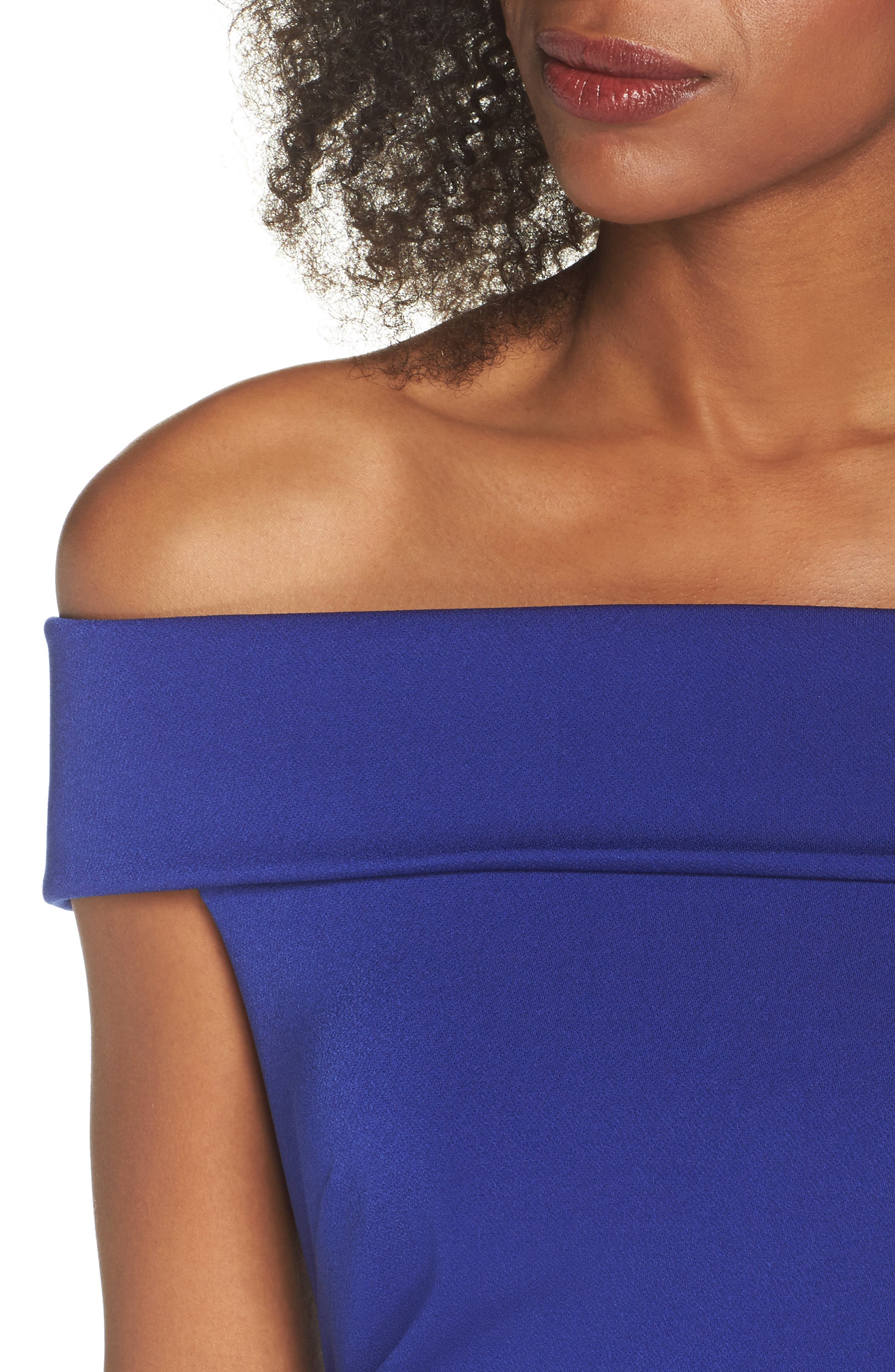 Off the Shoulder Gown,                             Alternate thumbnail 4, color,                             Royal