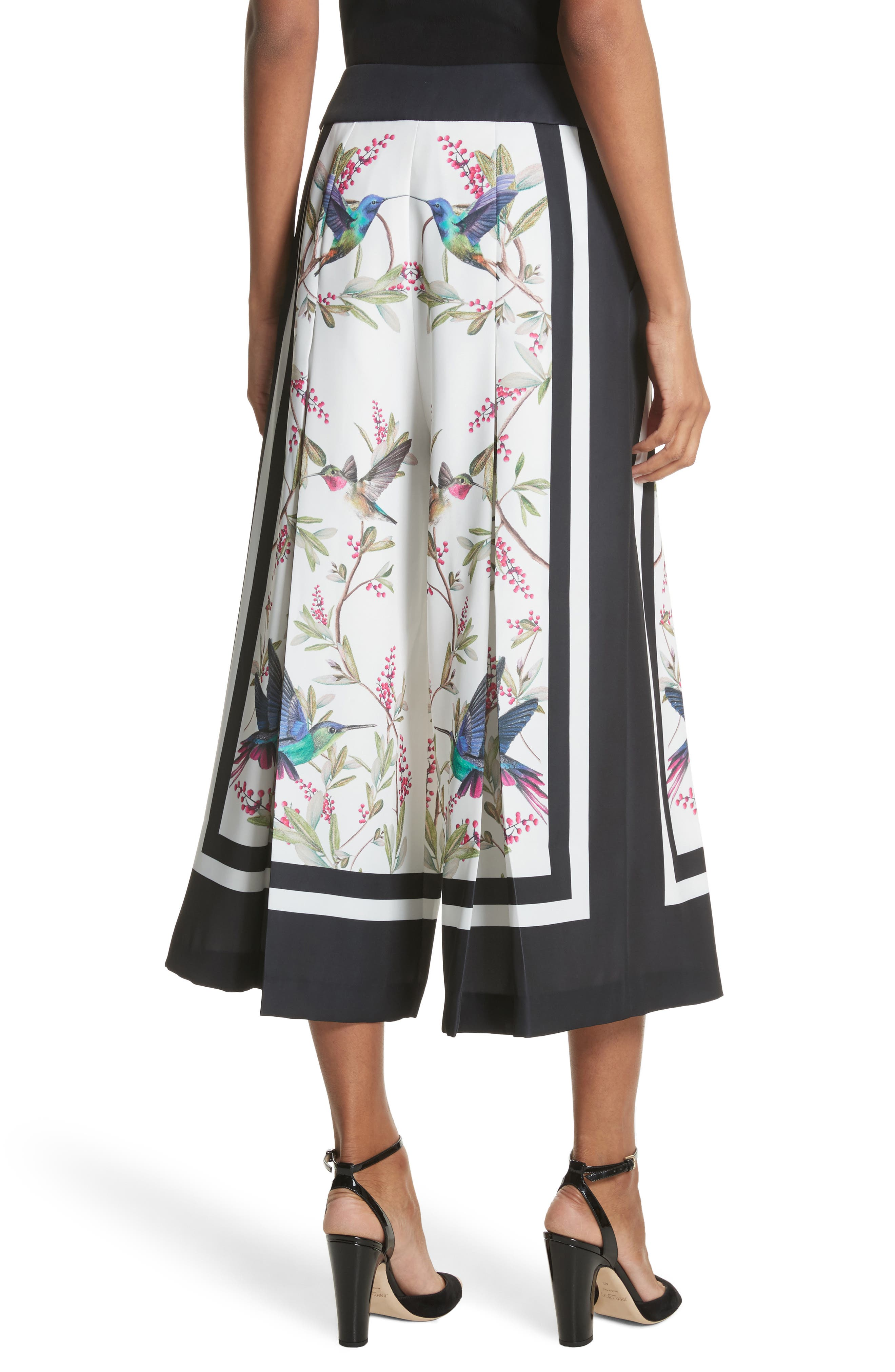 High Grove Wide Leg Culottes,                             Alternate thumbnail 3, color,                             White