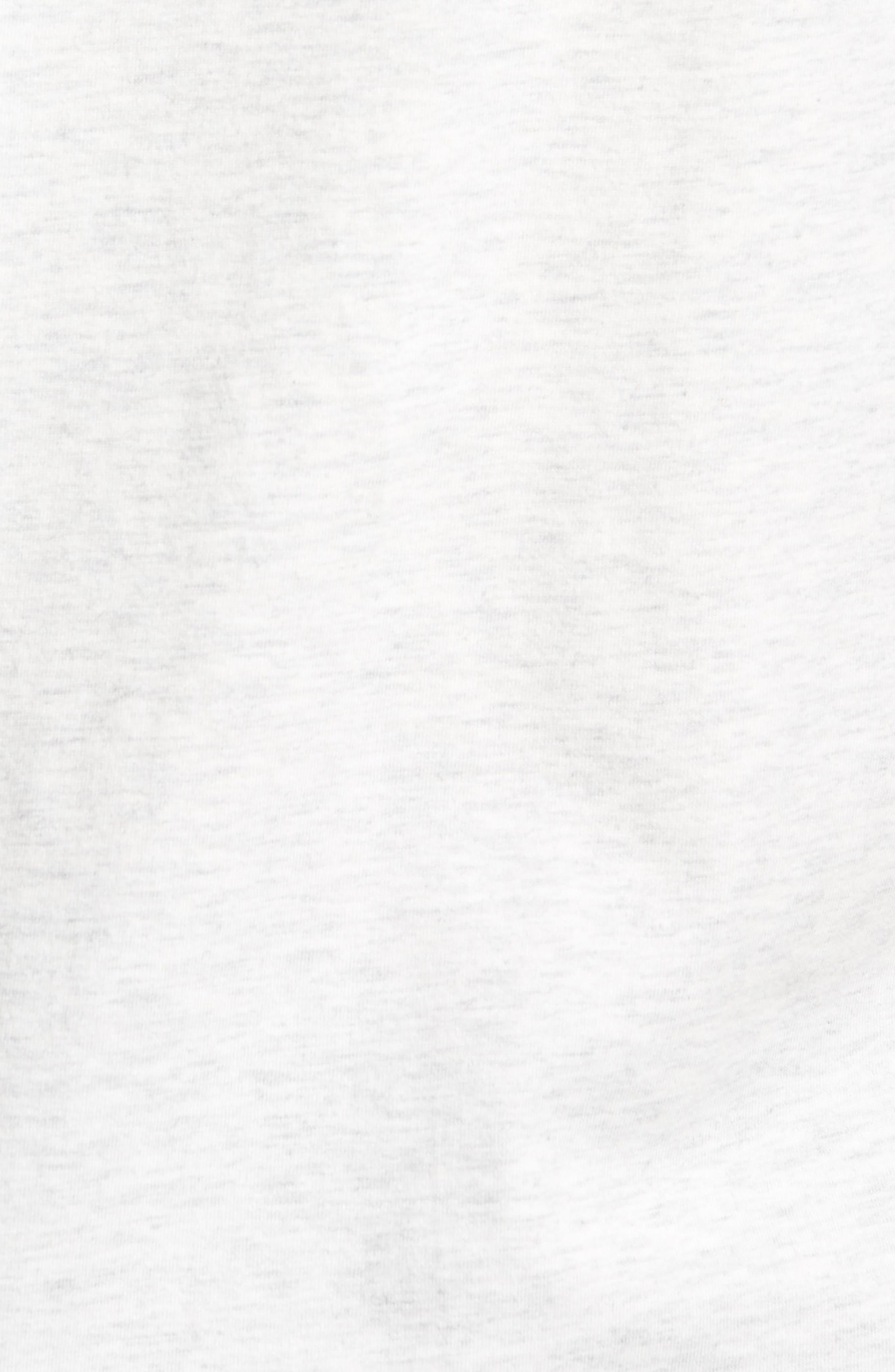 Logo T-Shirt,                             Alternate thumbnail 5, color,                             Heather Ash/ Black