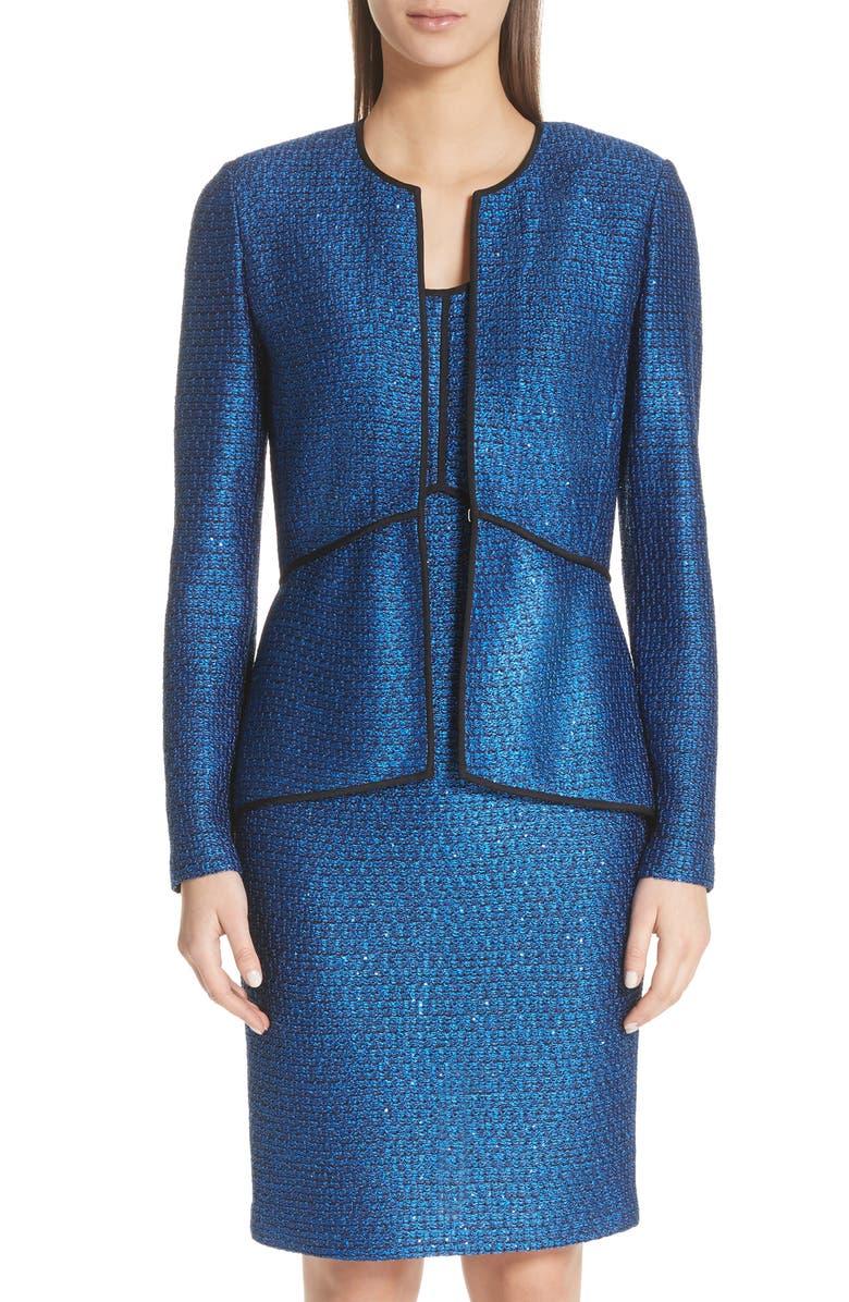 Luster Sequin Knit Jacket