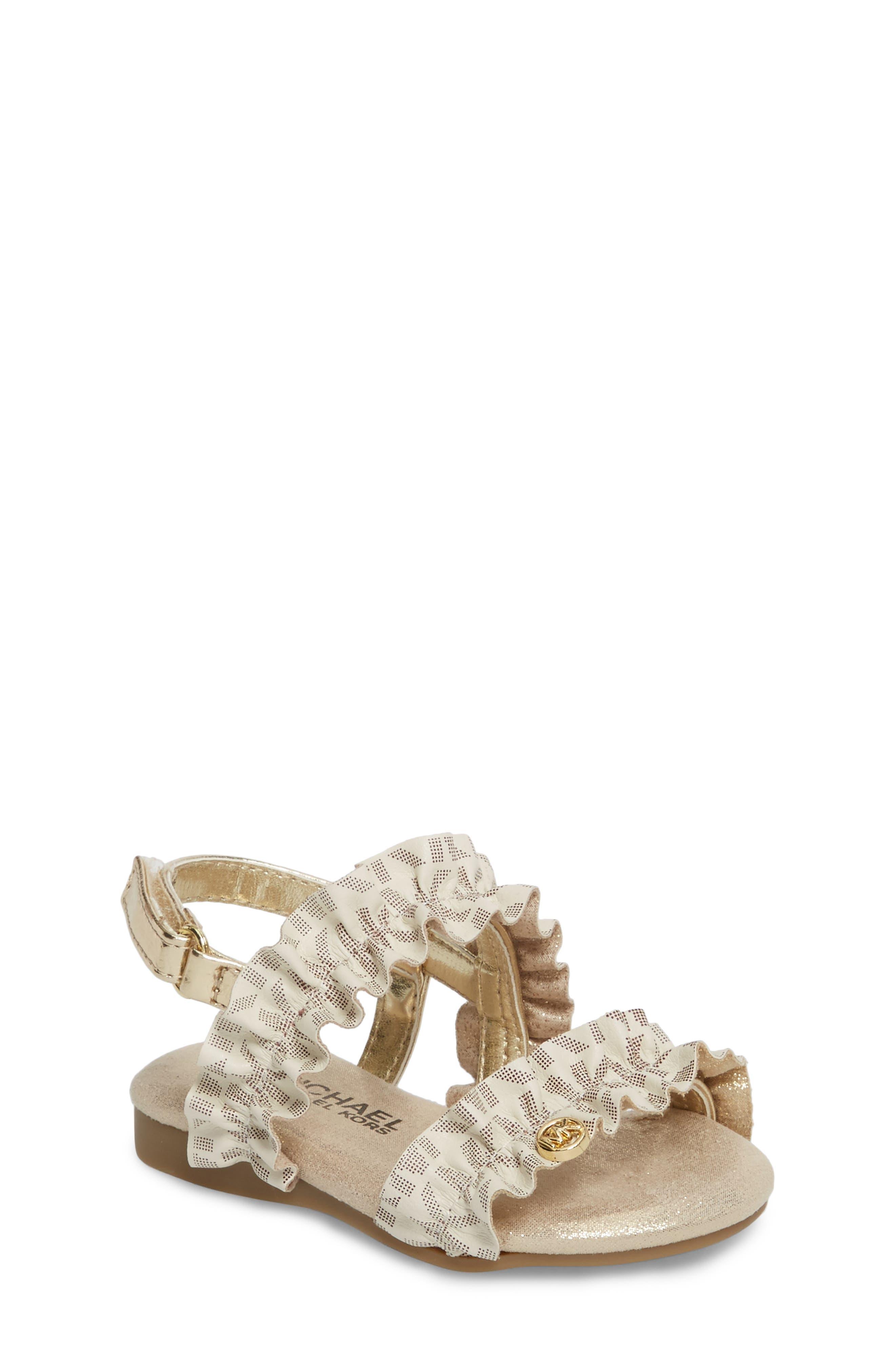 Demi Frillz Sandal,                         Main,                         color, Vanilla Gold