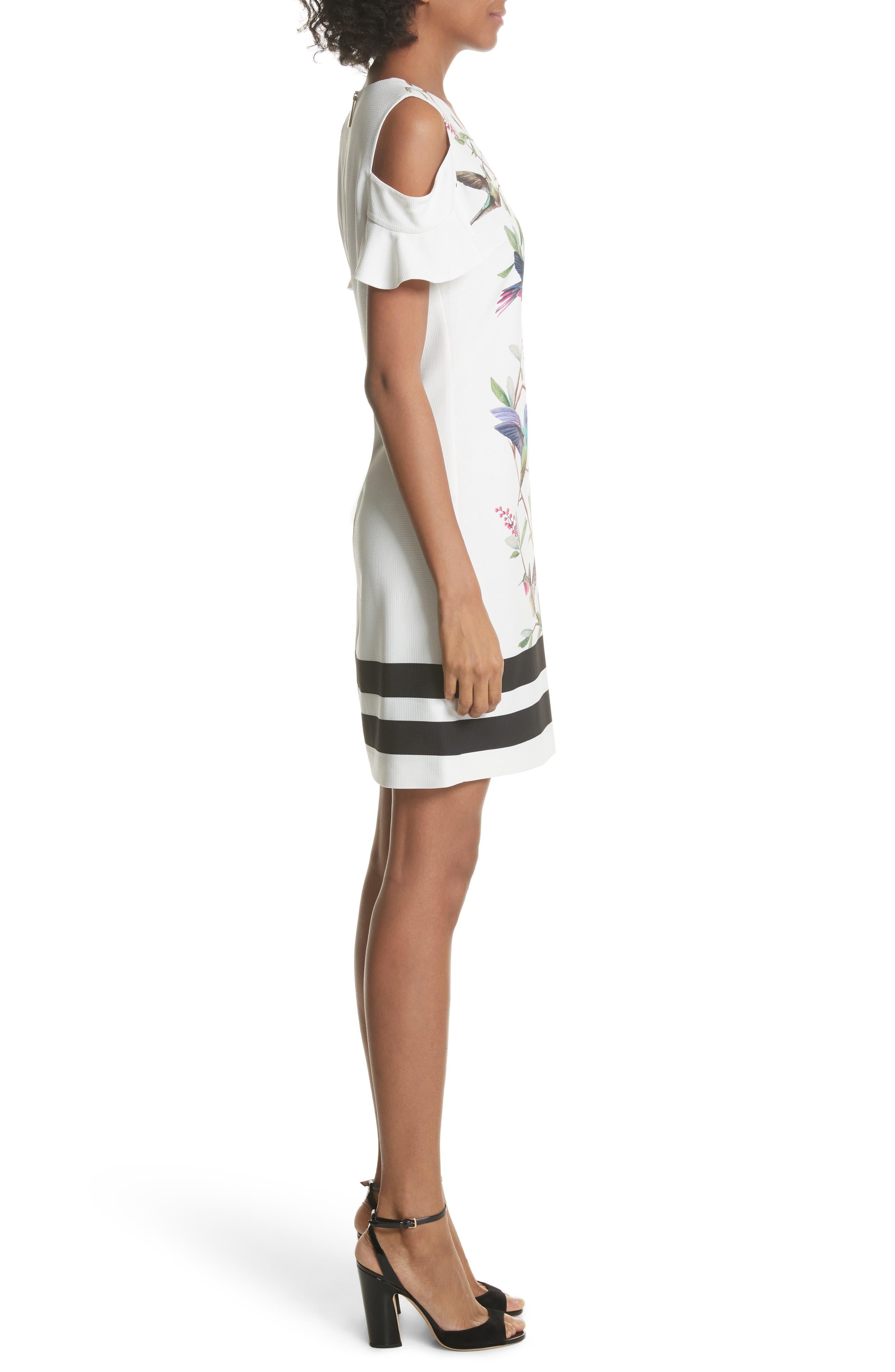 Emestin Cutout Minidress,                             Alternate thumbnail 3, color,                             White