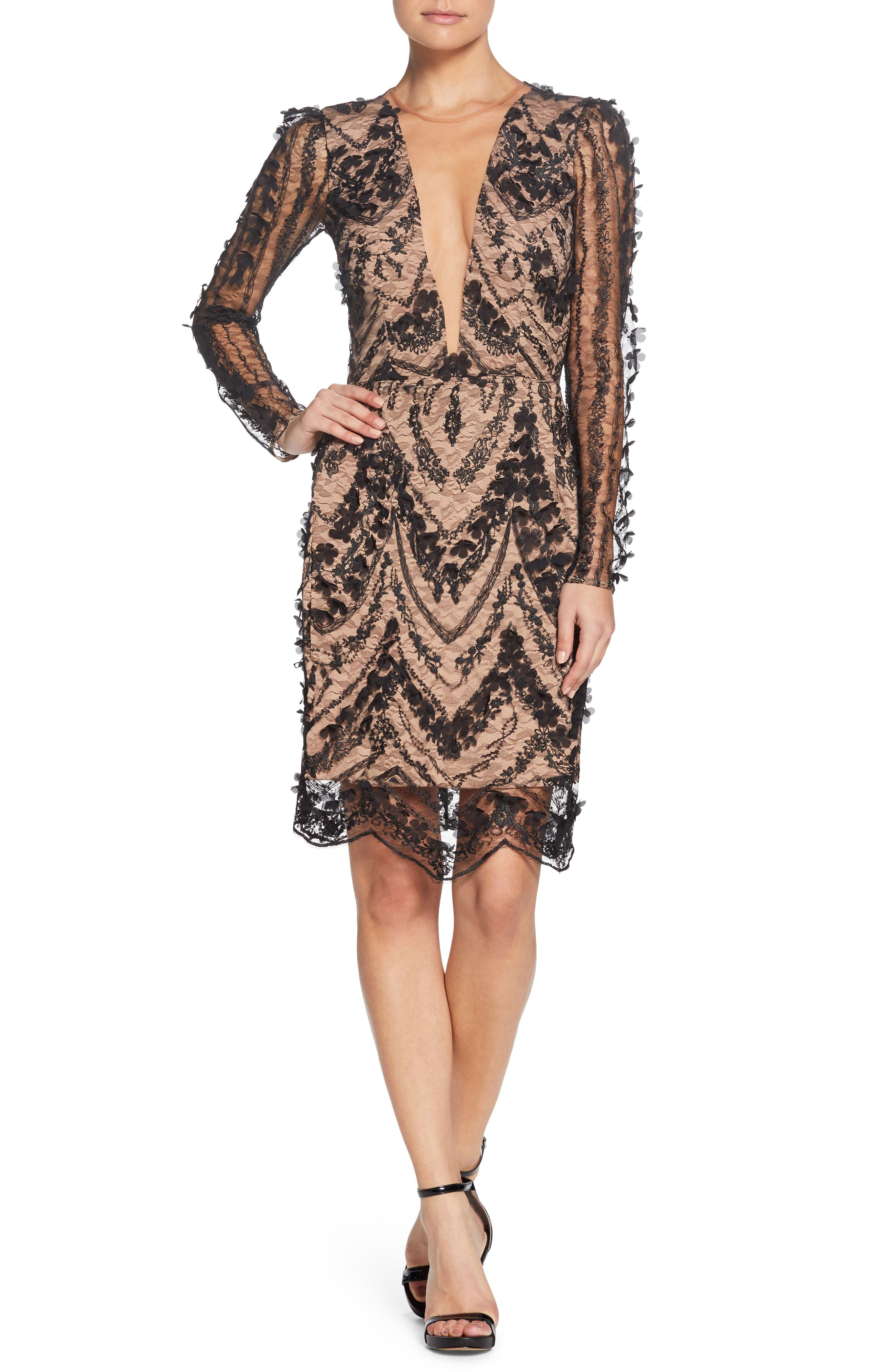 Dress the Population Jamie Lace Sheath Dress
